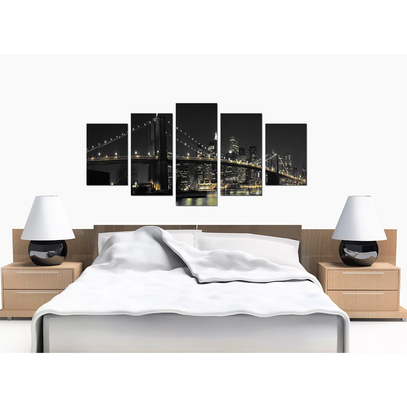 New York Canvas Wall Art for your Living Room - Set of Five