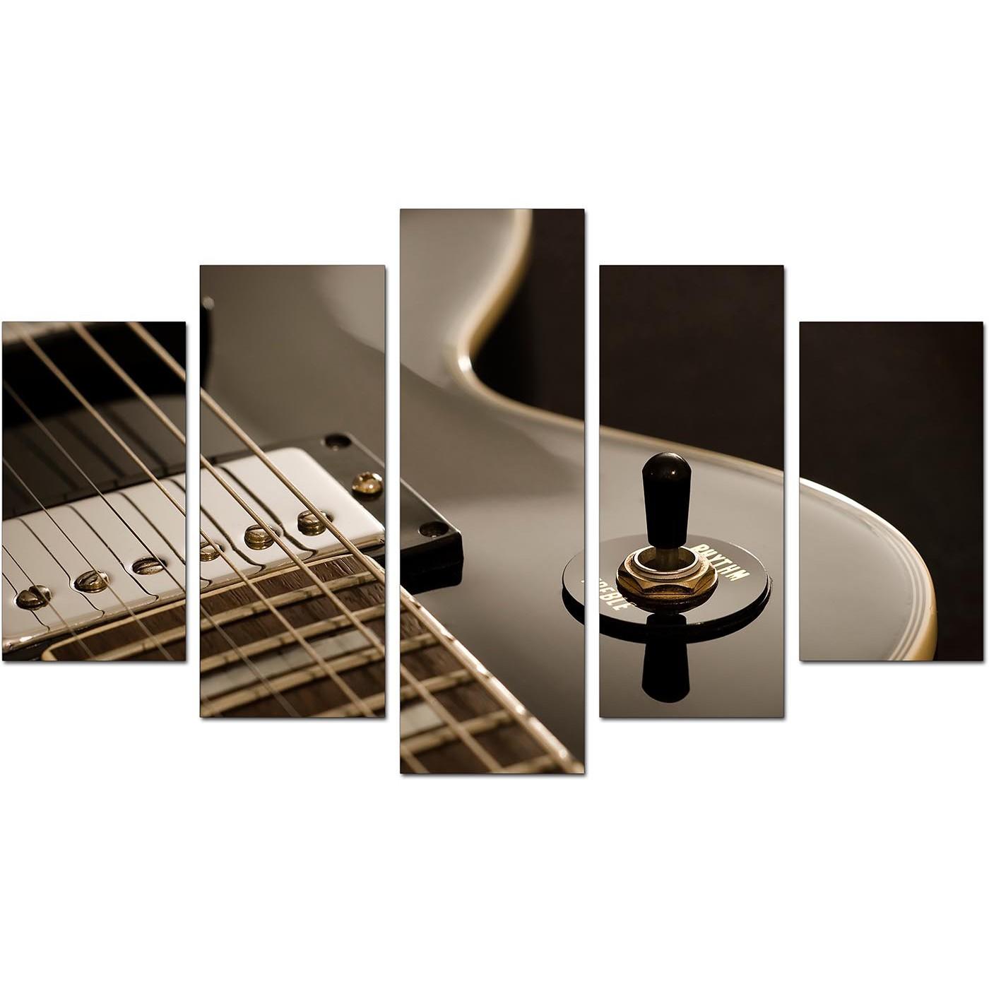 Black White Cheap Set Of 5 Of Guitar Display Gallery Item 1 ...