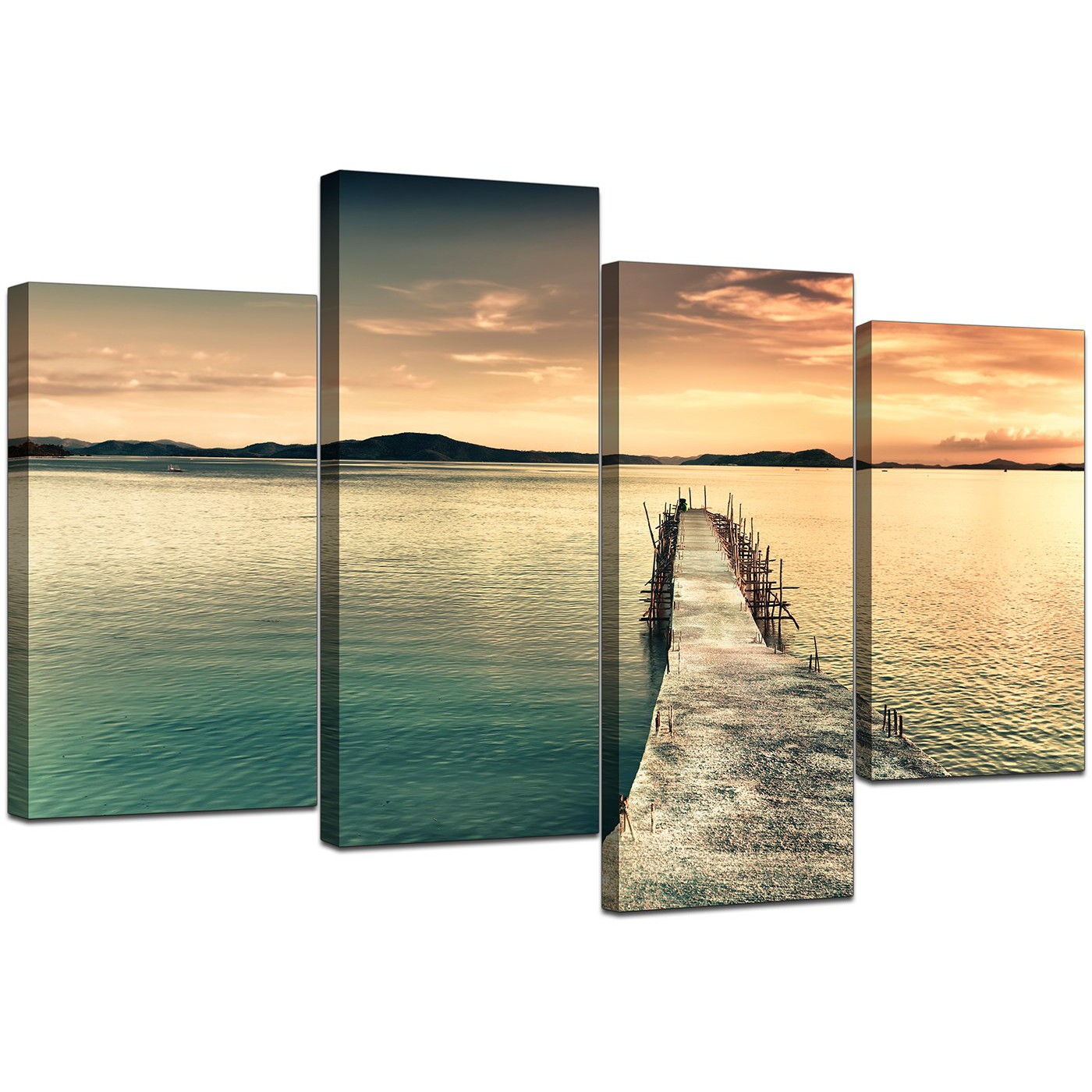 Fancy Canvas Wall Art Set Of 4 Photo - Wall Art Collections ...