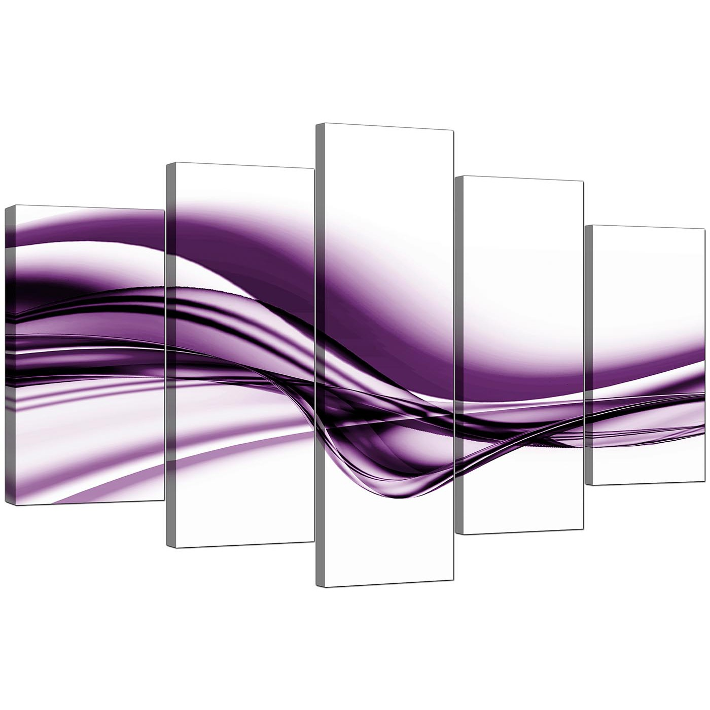 Extra Large Purple Abstract Canvas Prints - 5 Piece