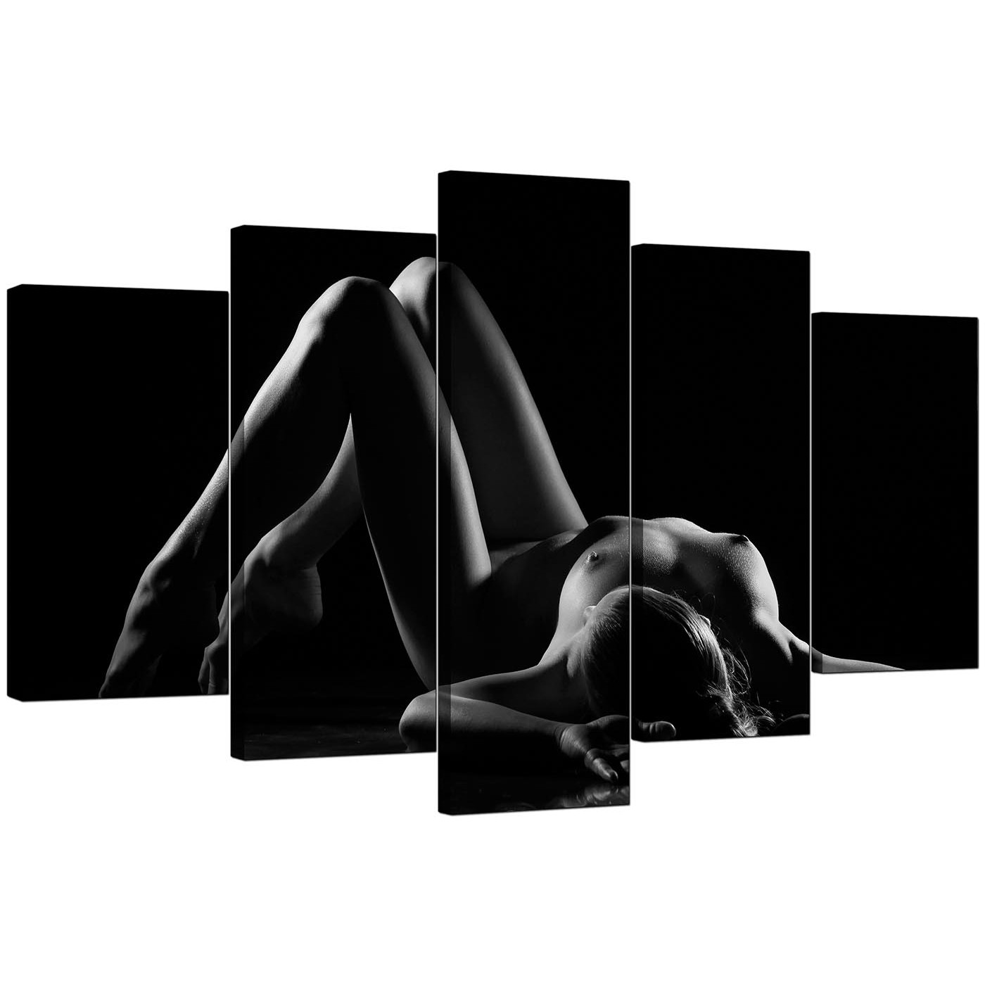 black and white woman and man nude artistic
