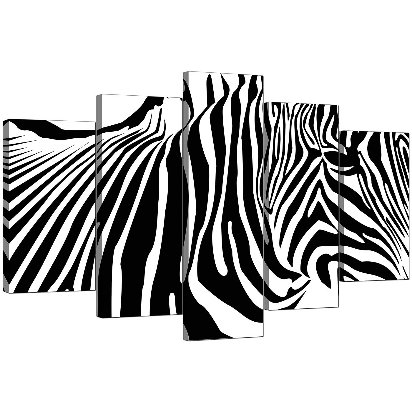 Display gallery item 4 · set of 5 modern black white canvas art display gallery item 5