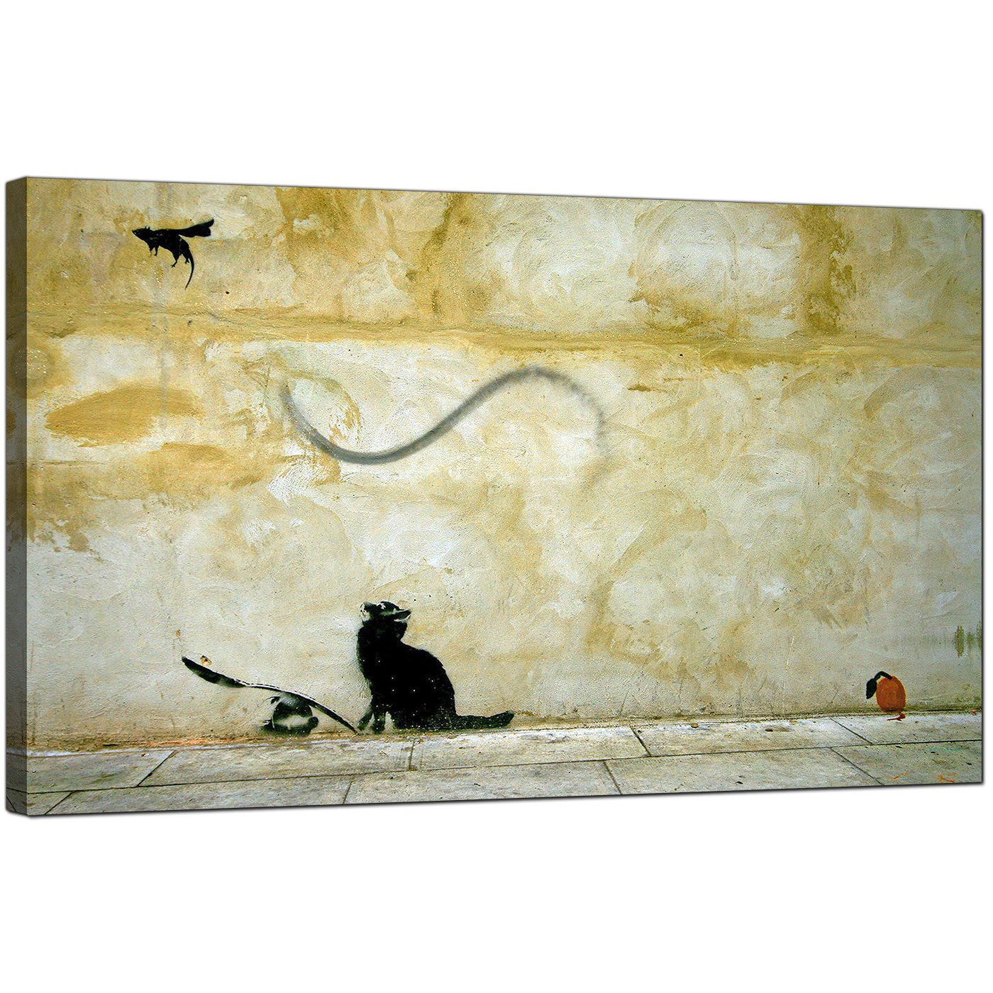 Banksy Canvas Prints - Cat and Mouse