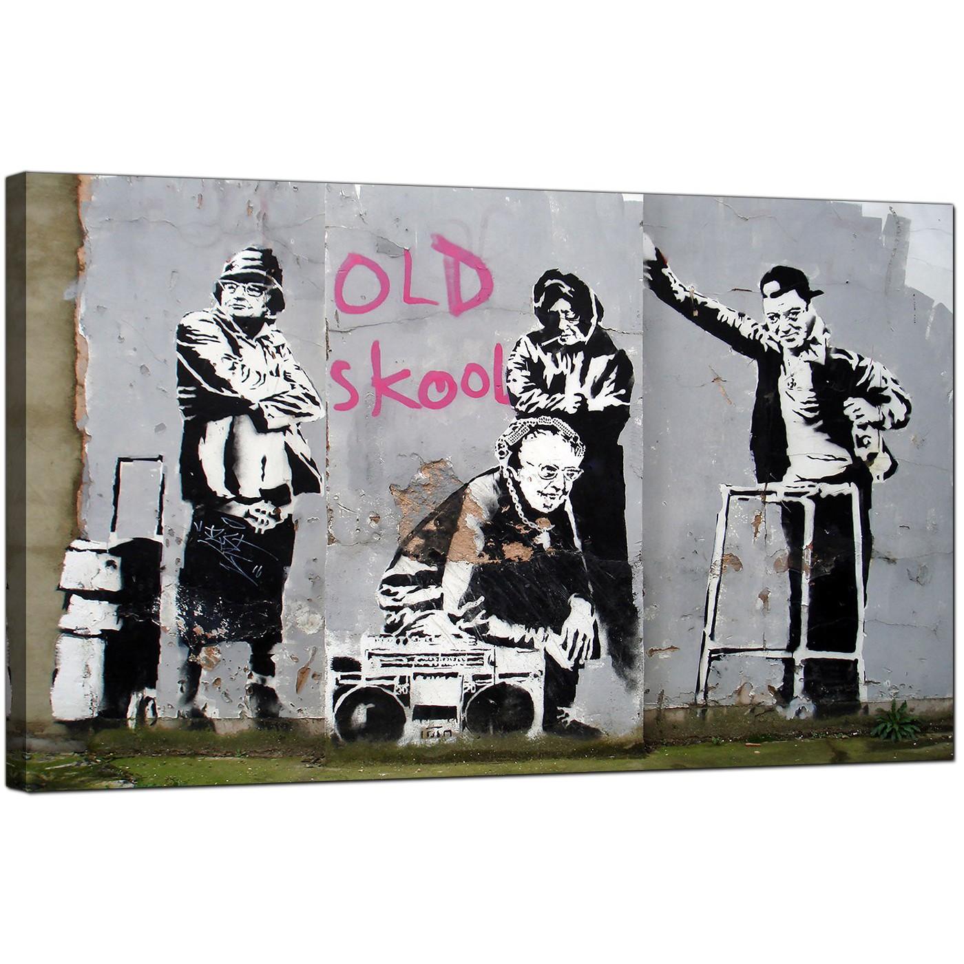 Display gallery item 4 · banksy canvas pictures old skool b boy grannies urban art display gallery item 5