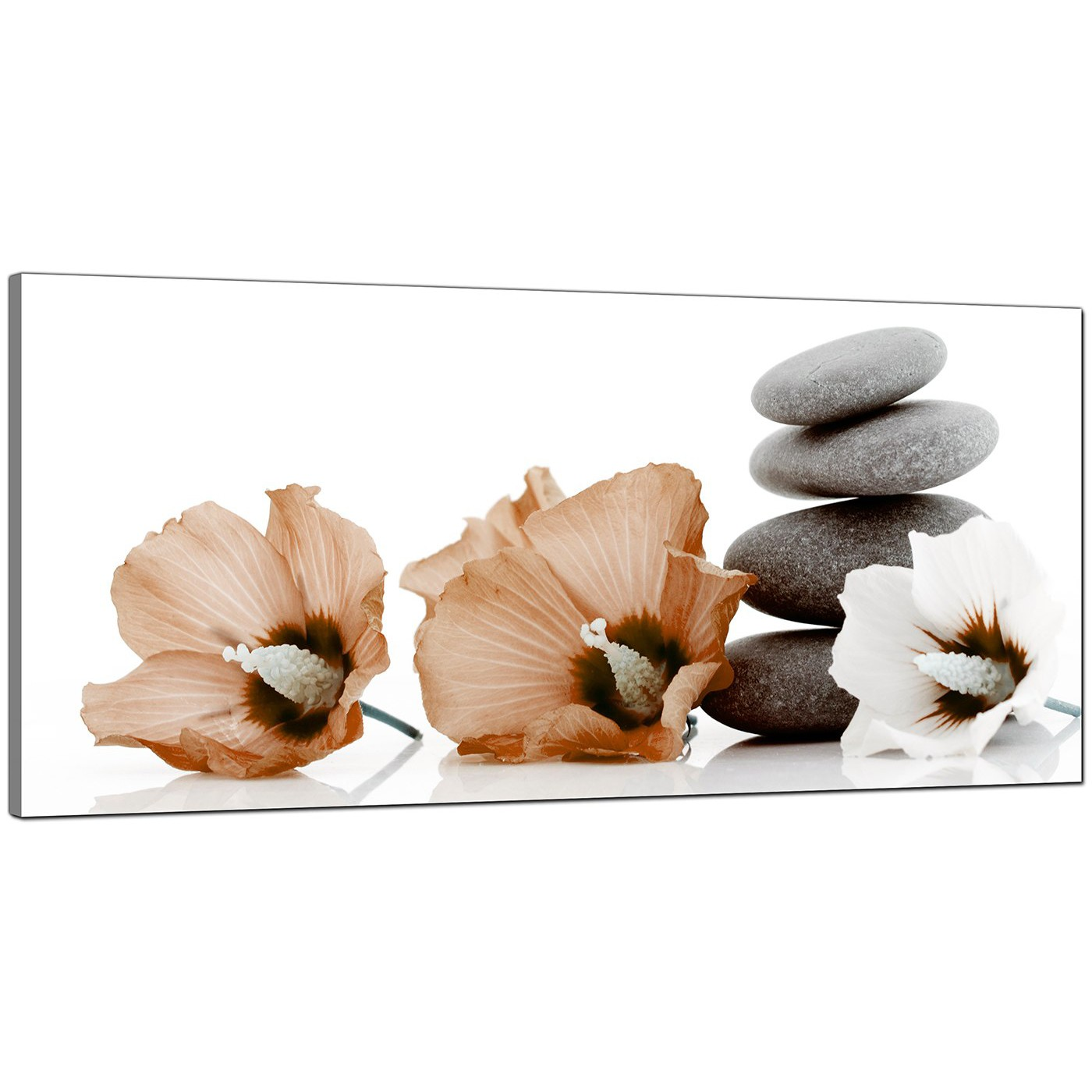 Large brown and grey canvas prints of flowers and pebbles display gallery item 4 brown cheap large canvas of flower display gallery item 5 izmirmasajfo