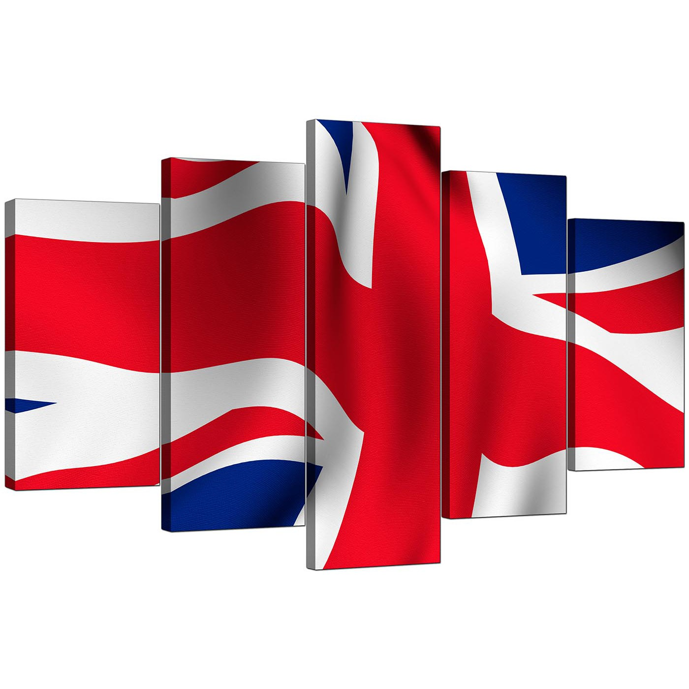 Union Jack Canvas Pictures For Your Living Room 5 Panel