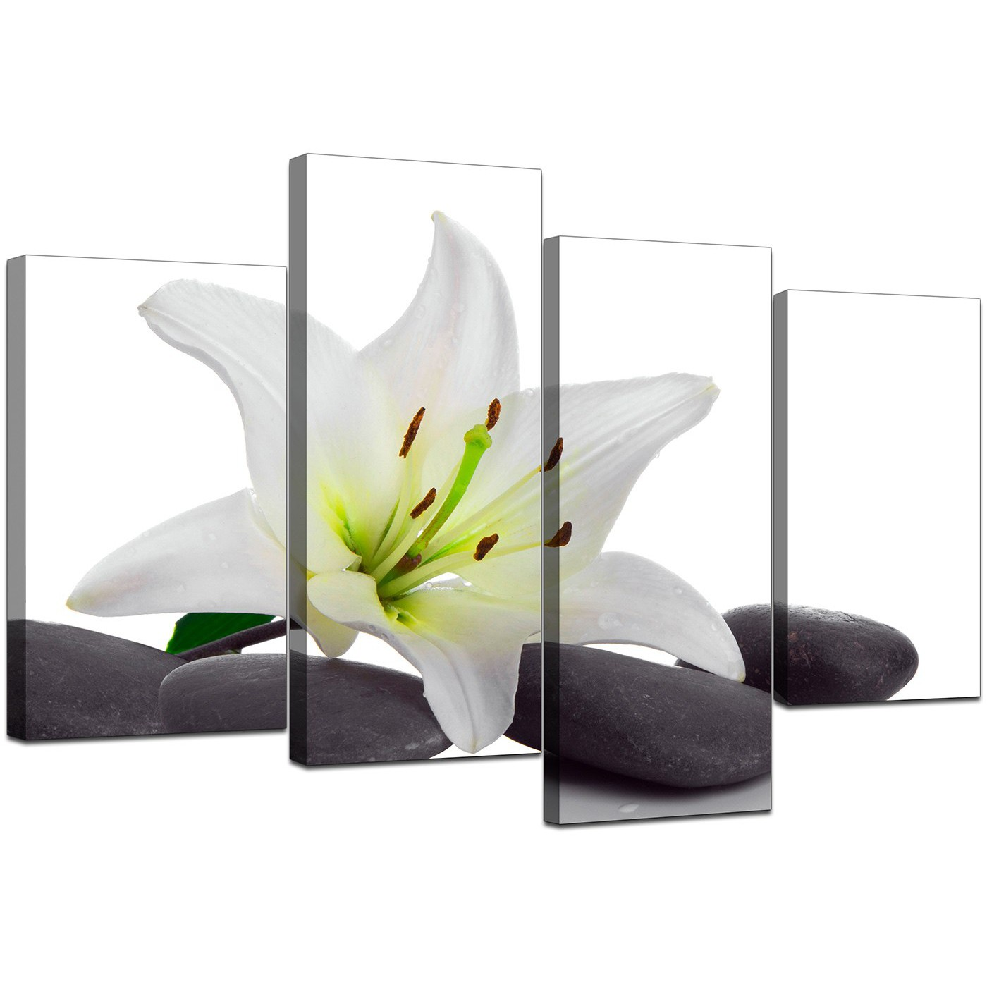 Floral canvas prints of white lily flowers for bedroom display gallery item 5 4 part set of modern black white canvas art display gallery item 6 izmirmasajfo