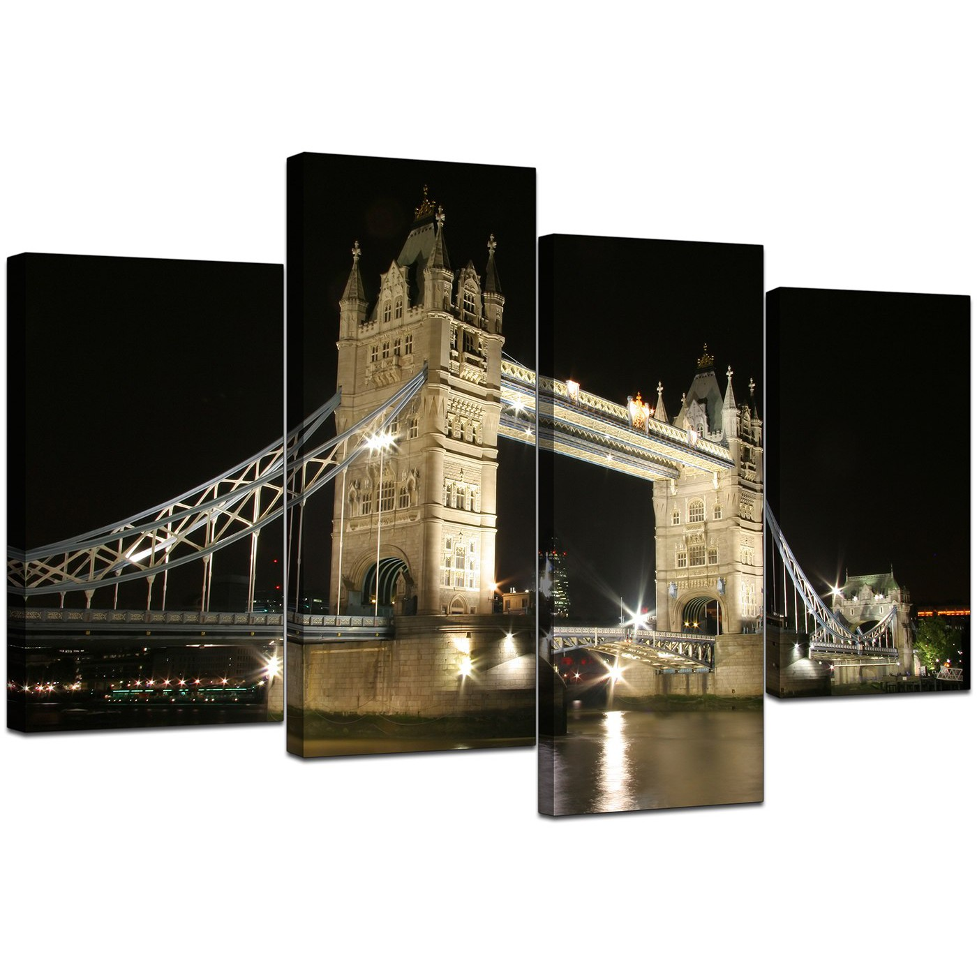 Display gallery item 5 · 4 part set of extra large black white canvas picture display gallery item 6