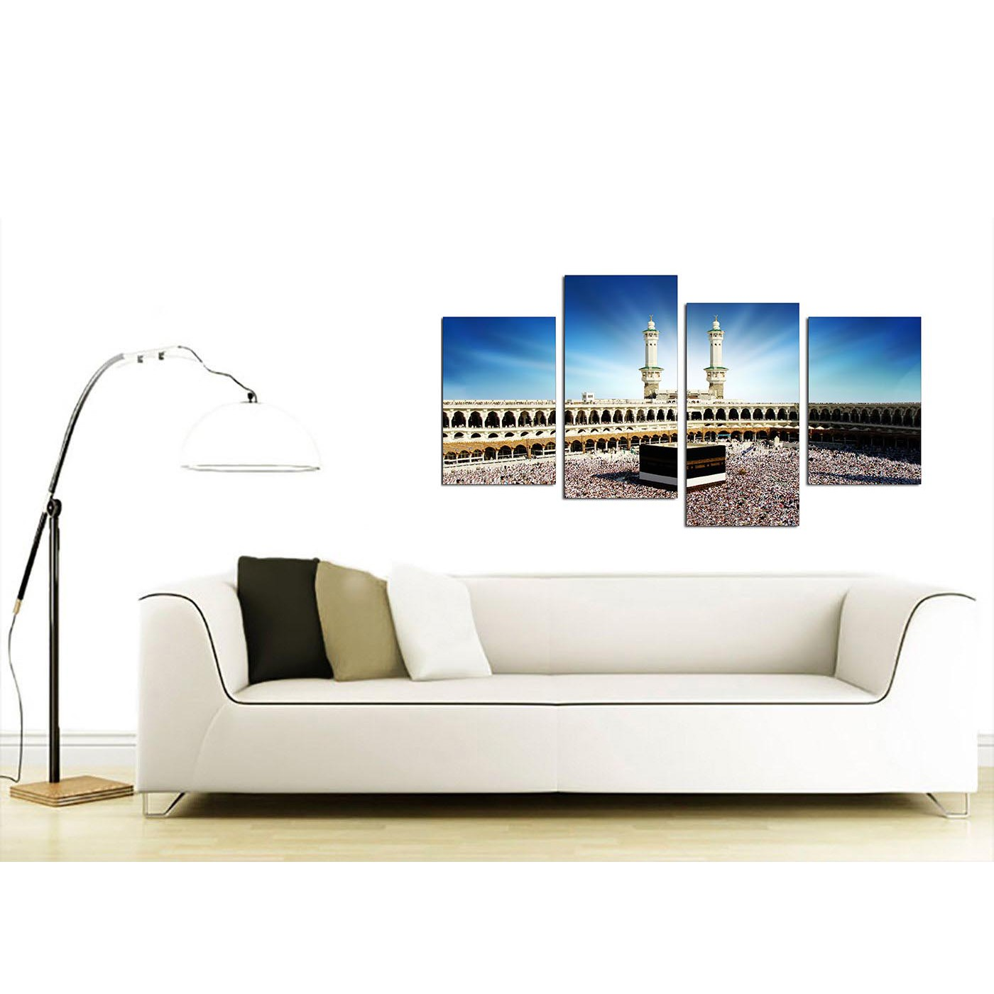 Display Gallery Item 1; Cheap Mecca u0026 Kaaba at Hajj Canvas Wall Art ...  sc 1 st  Wallfillers & Islamic Canvas Wall Art of Kaaba Hajj in Mecca for Muslims - Set of 4