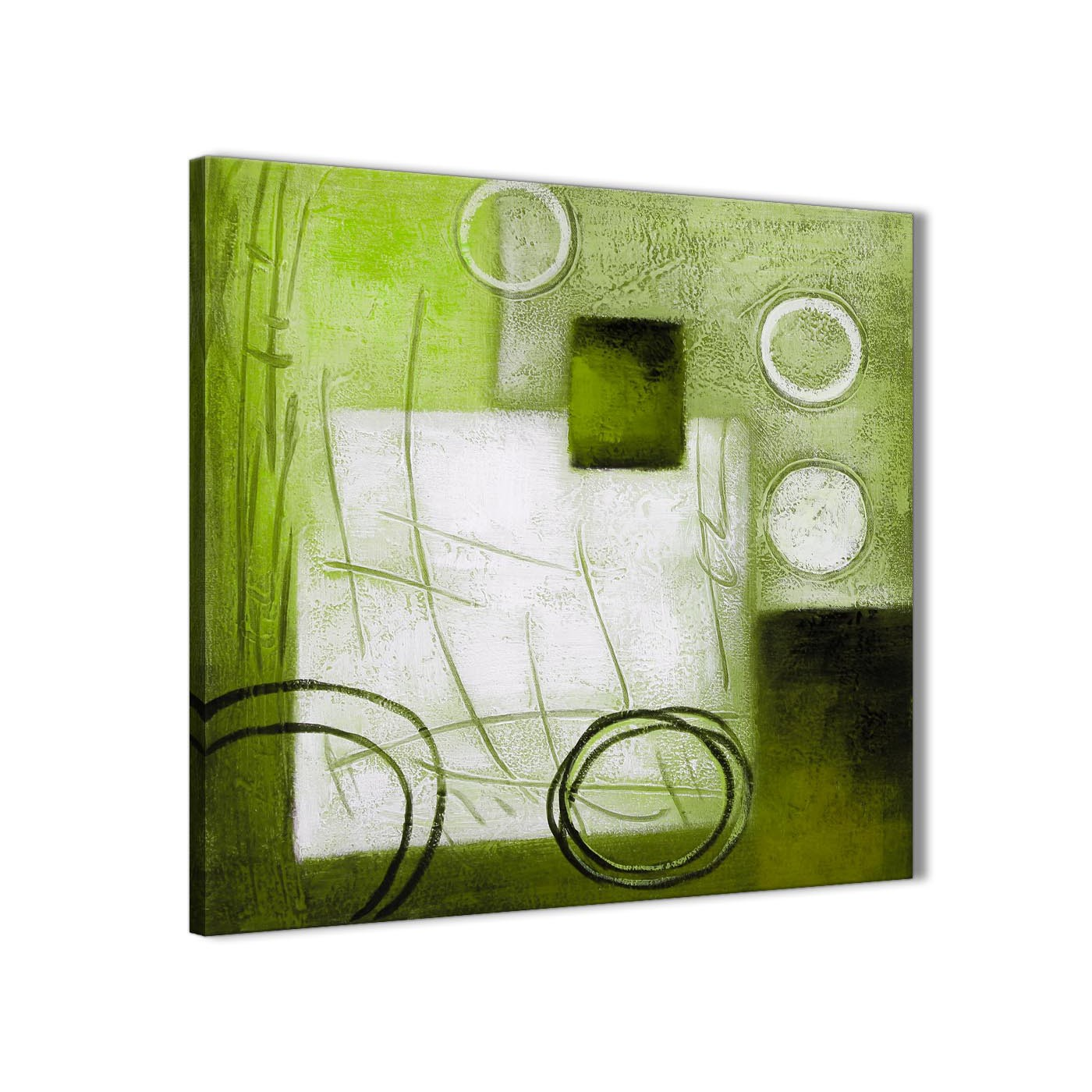 Lime Green Painting Kitchen Canvas Wall Art Accessories