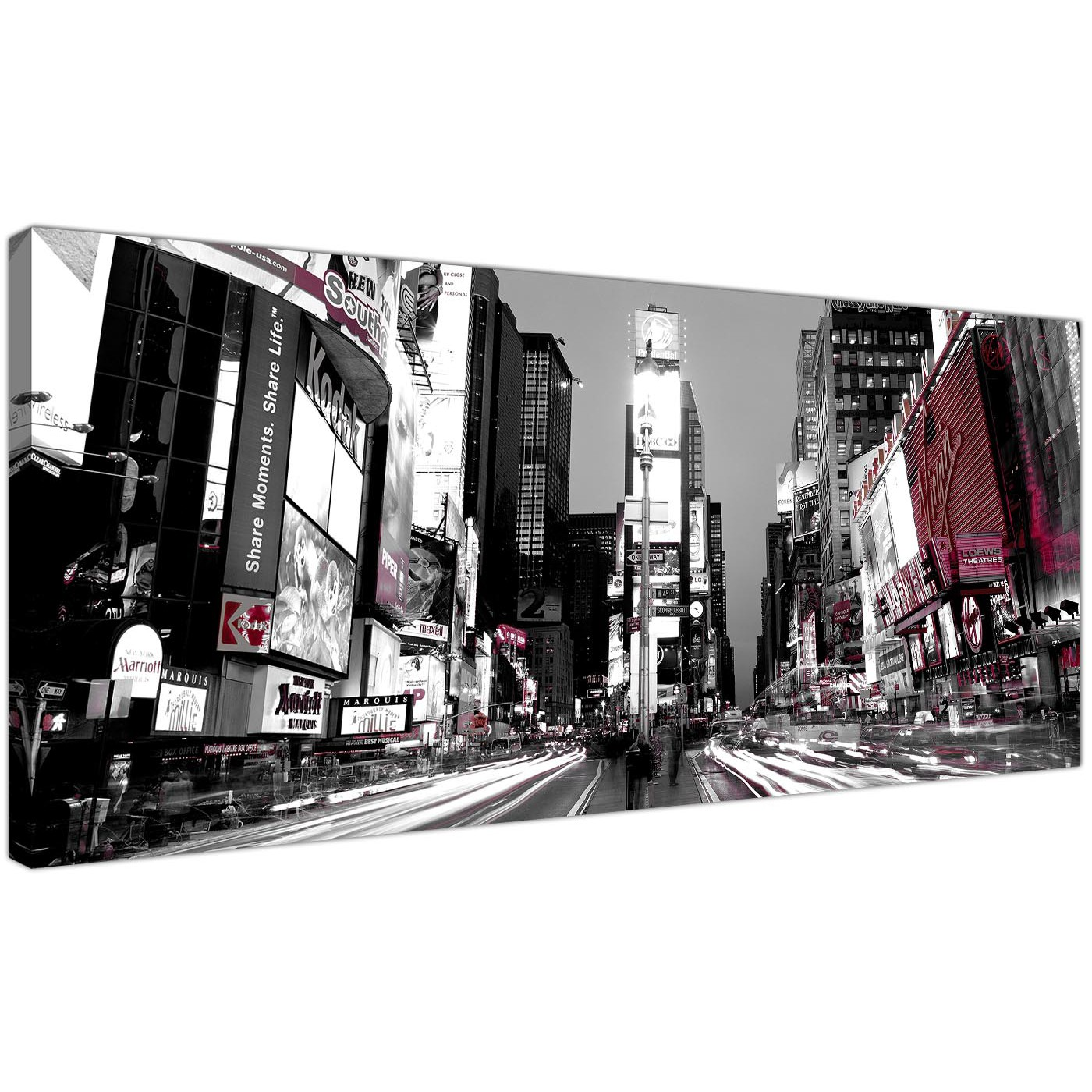 Cheap canvas pictures black white and red panoramic landscape 1213 display gallery item 1