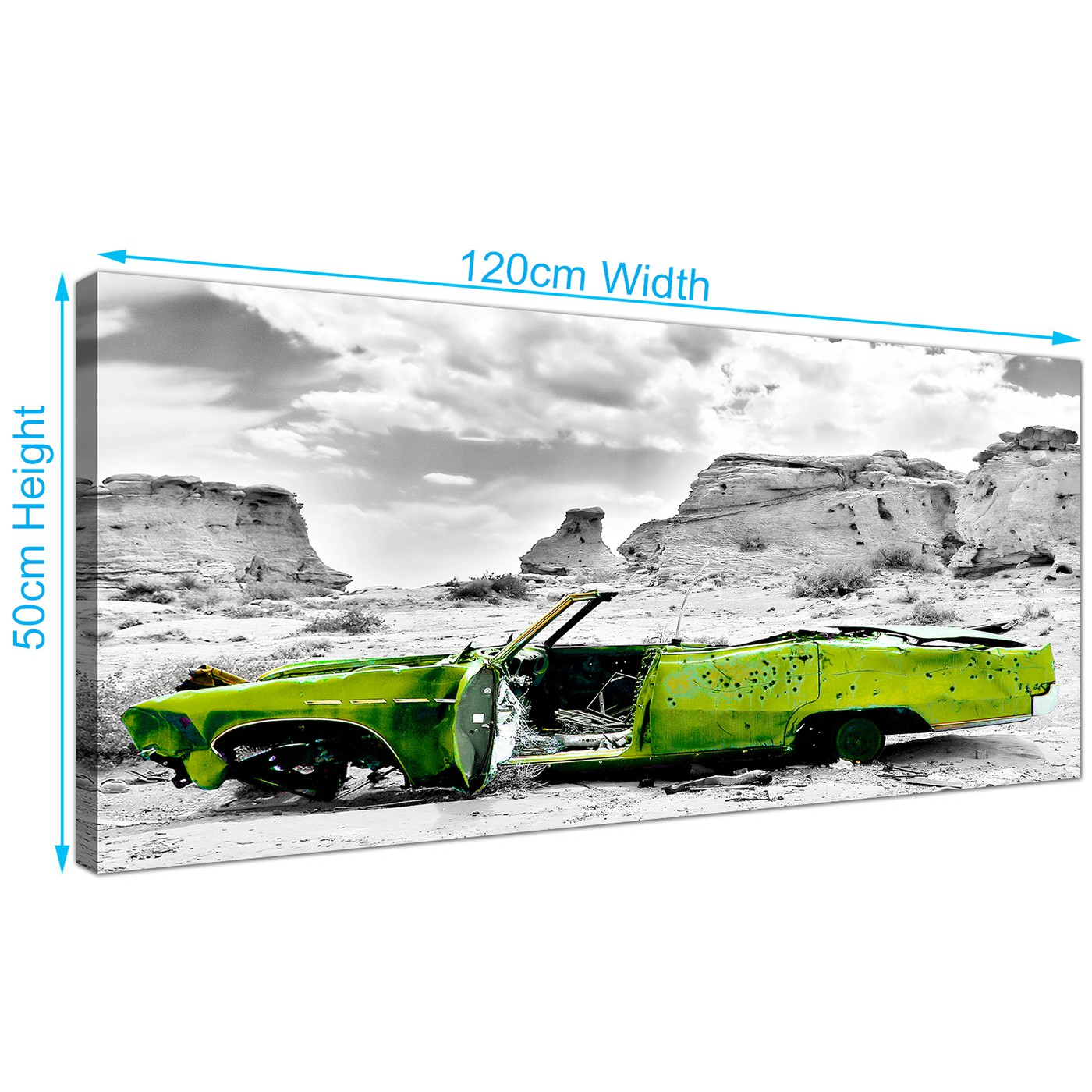 Display Gallery Item 5; Large Car Canvas Pictures 120cm x 50cm 1143 Display Gallery Item 6 ...  sc 1 st  Wallfillers & Cheap Black and White Canvas Wall Art of a Green Car