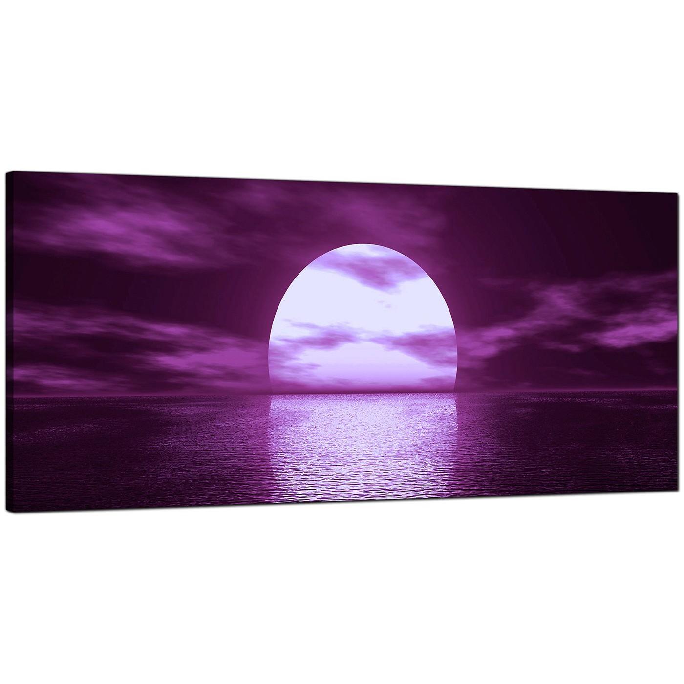 Display Gallery Item 4; Purple Bedroom Wide Canvas Of Landscape Display  Gallery Item 5