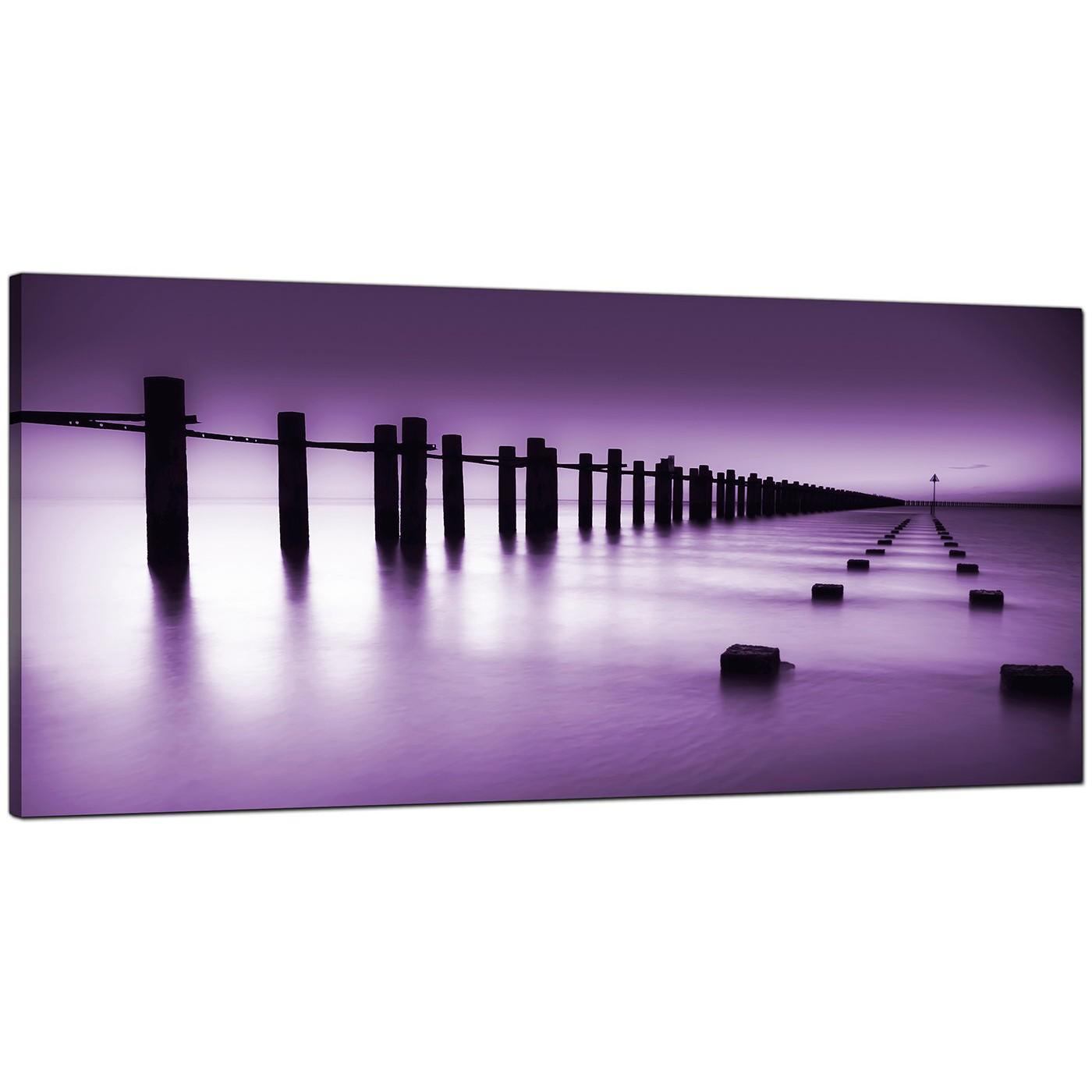 Display Gallery Item 4; Purple Living Room Wide Canvas Of Landscape Display  Gallery Item 5