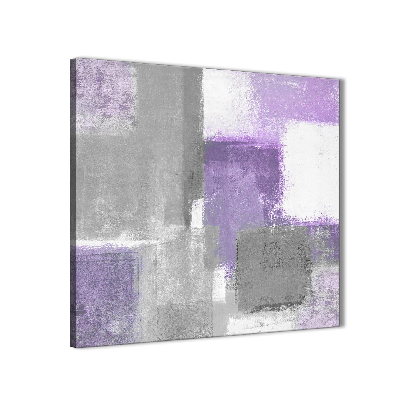 8cbc44919c Cheap Purple Grey Painting Bathroom Canvas Wall Art Accessories - Abstract  1s376s - 49cm Square Print Display Gallery Item 1 ...