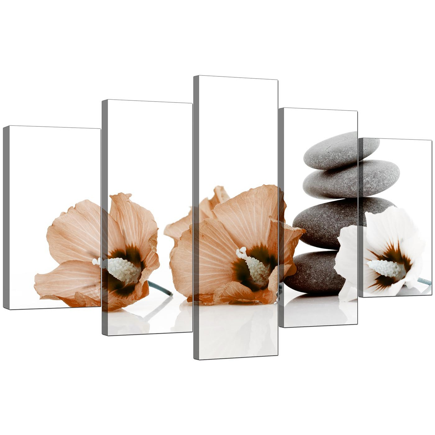 Large flowers canvas prints uk 5 piece in brown display gallery item 4 5 piece set of extra large brown canvas picture display gallery item 5 izmirmasajfo Image collections