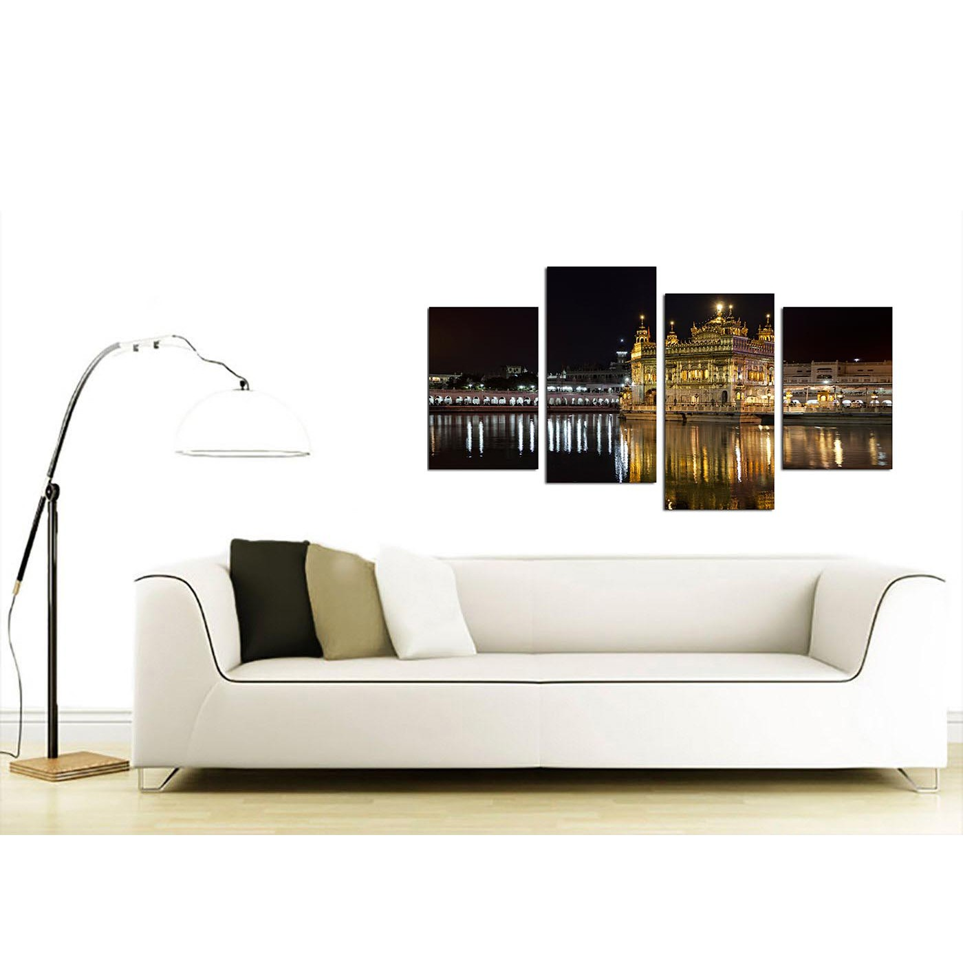 Sikh Canvas Wall Art of Golden Temple Amritsar for your Living Room