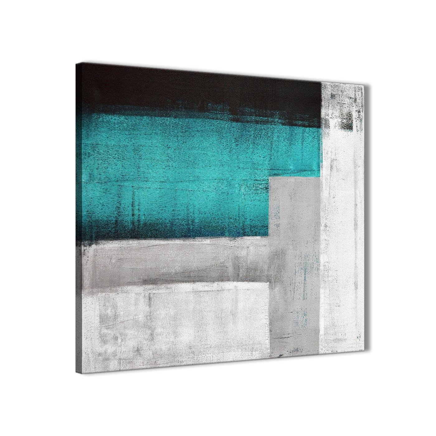 Display gallery item 3 cheap teal turquoise grey painting kitchen canvas pictures accessories abstract 1s429s 49cm square print display gallery item 4