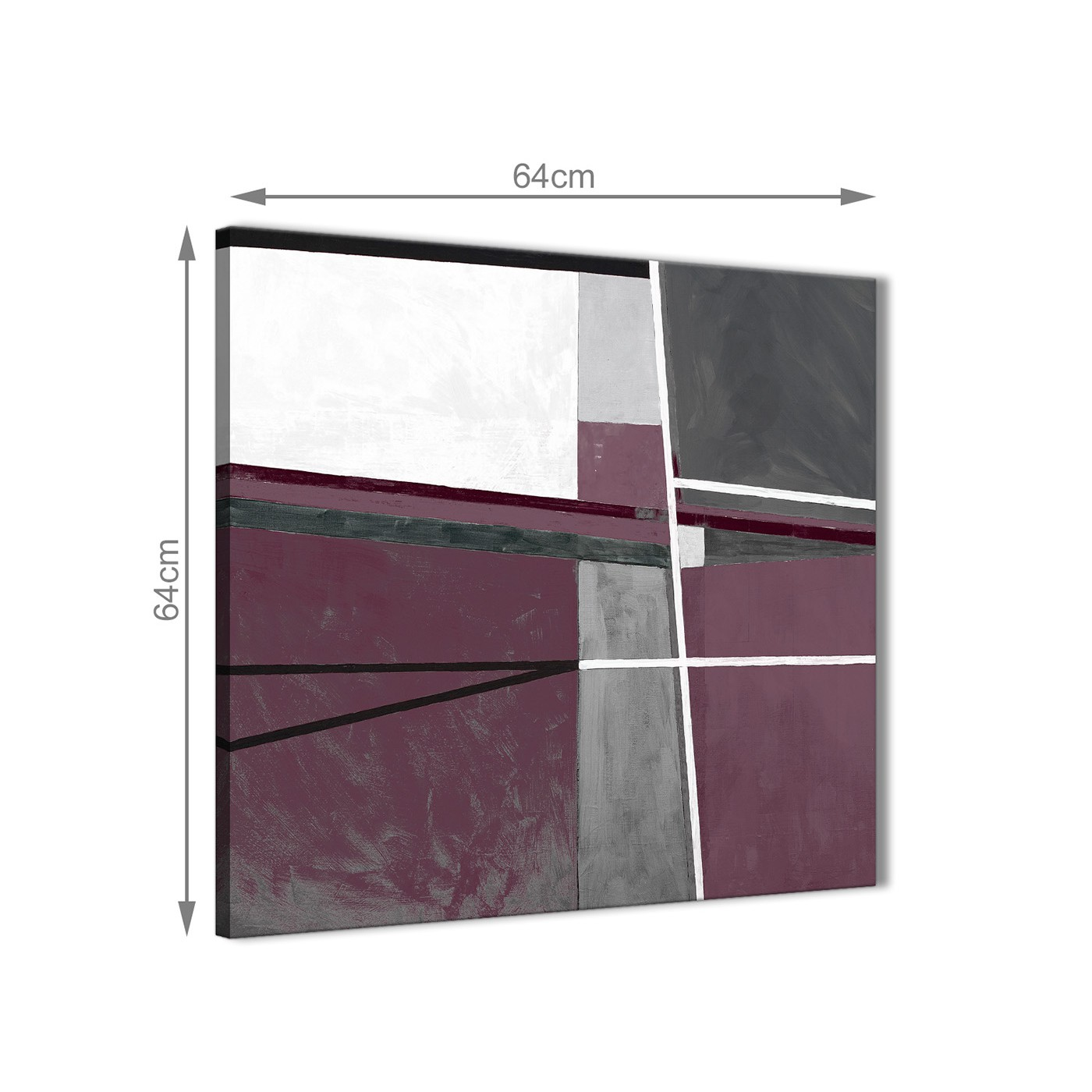 Plum Kitchen Paint: Plum Purple Grey Painting Stairway Canvas Wall Art