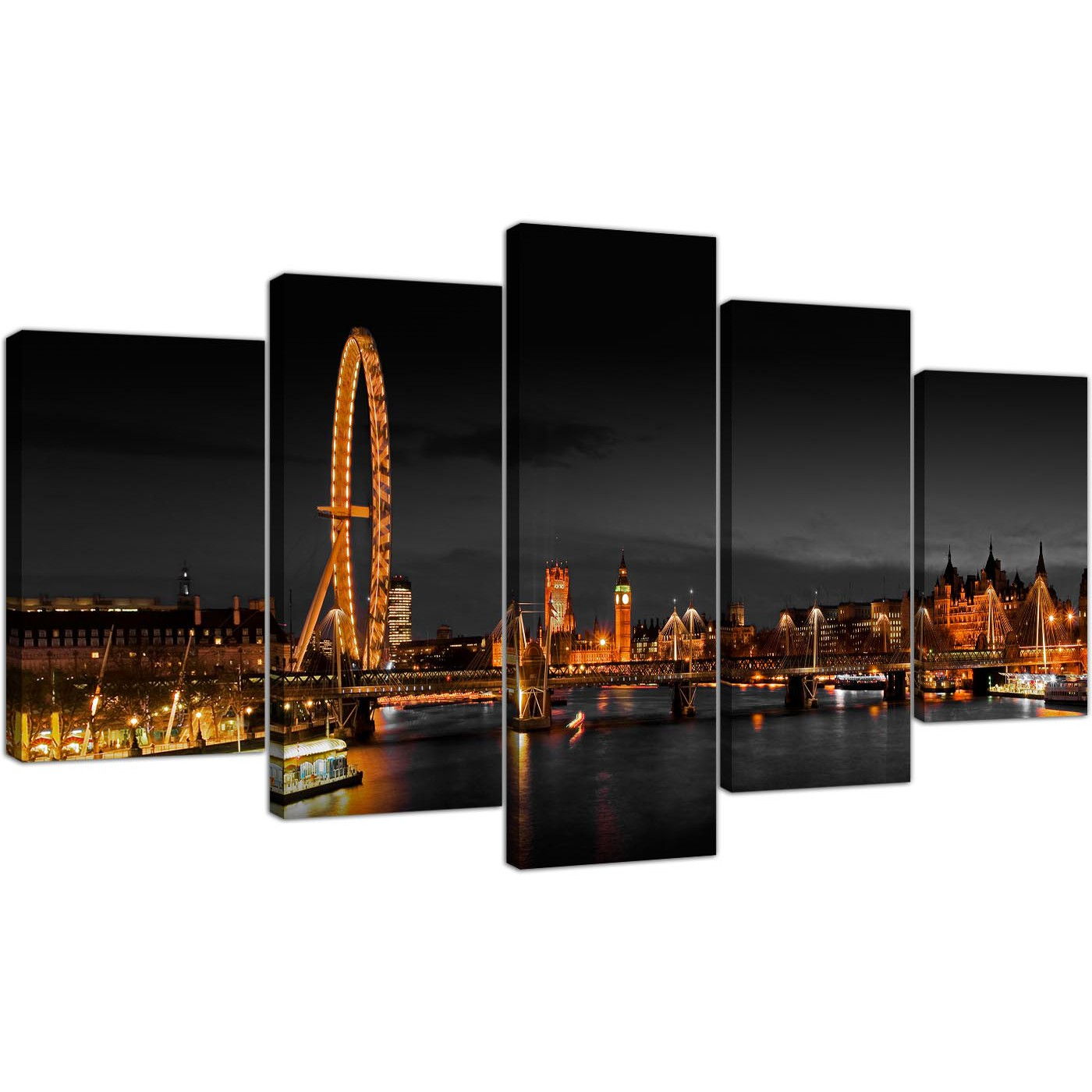 Extra large canvas pictures living room landscape 160cm x 75cm 5186 display gallery item 1