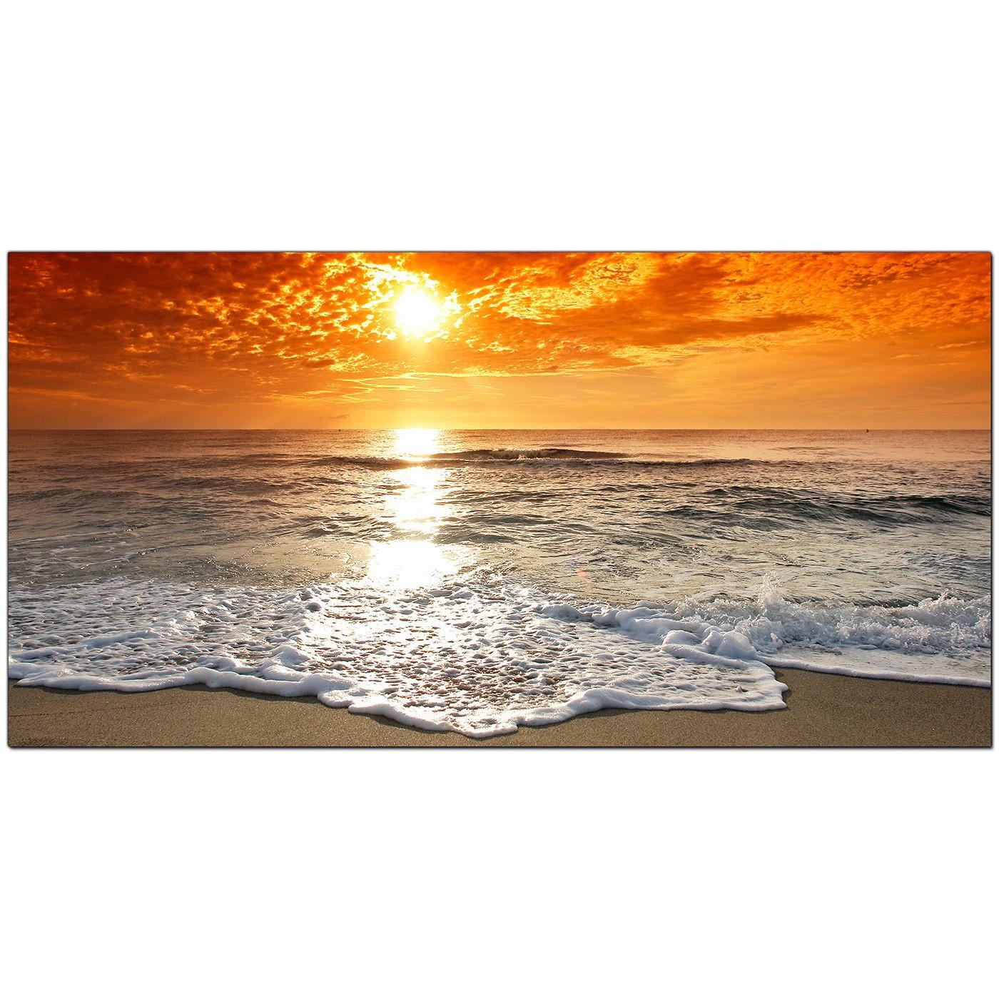 Display Gallery Item 5 Orange Bedroom Extra Large Canvas Of Sunset Beach Landscape 6