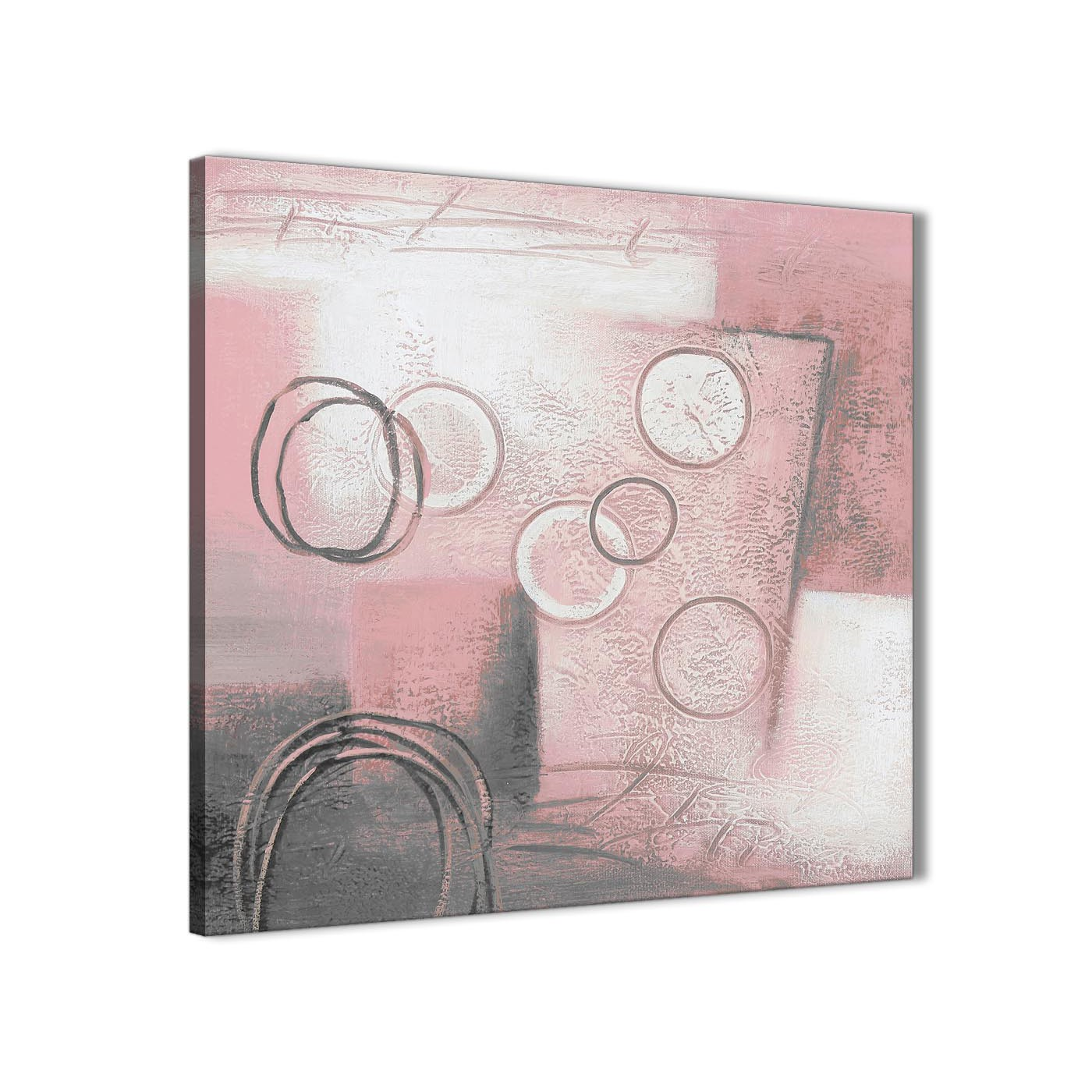 Blush Pink Grey Painting Kitchen Canvas Pictures