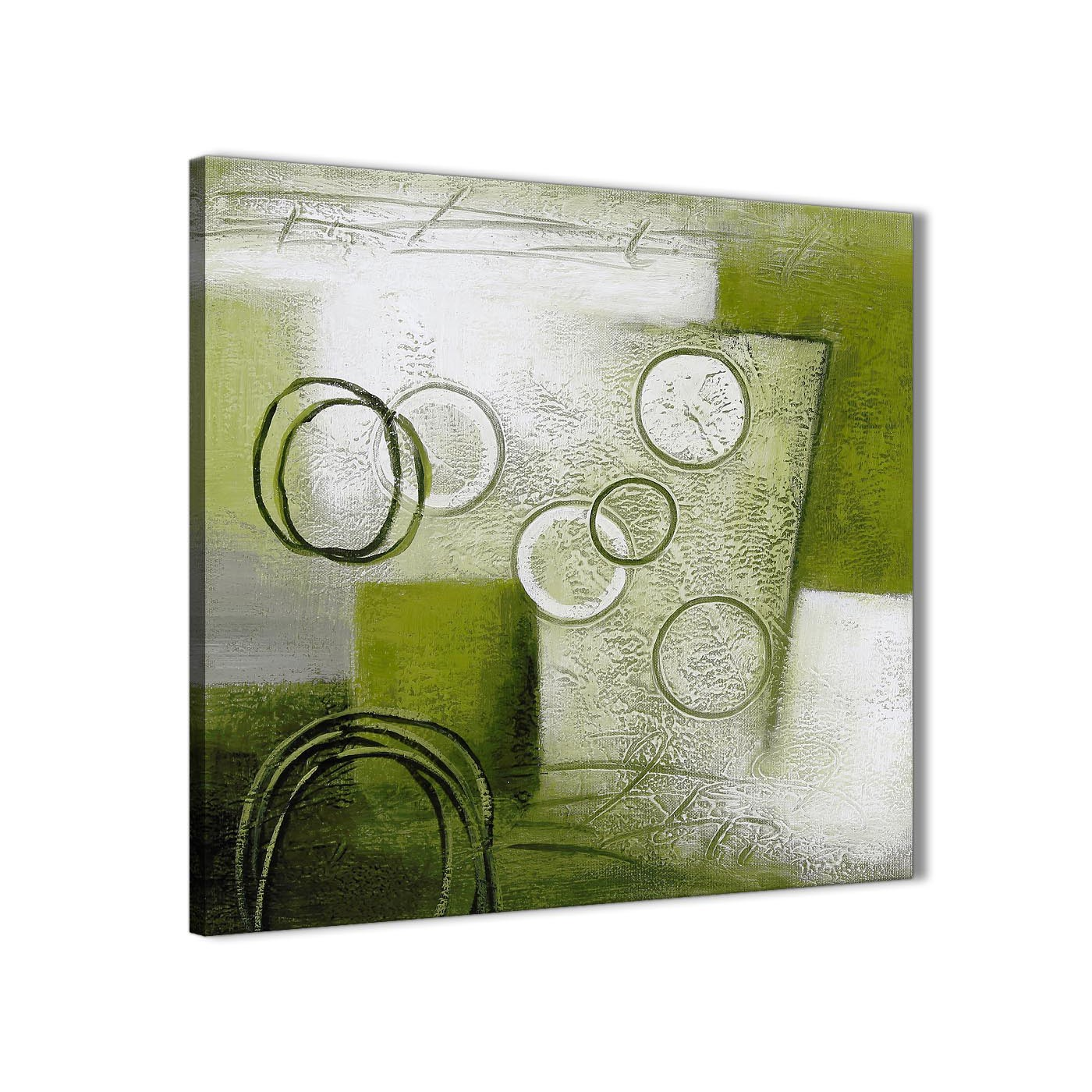 lime green painting hallway canvas wall art decorations - abstract