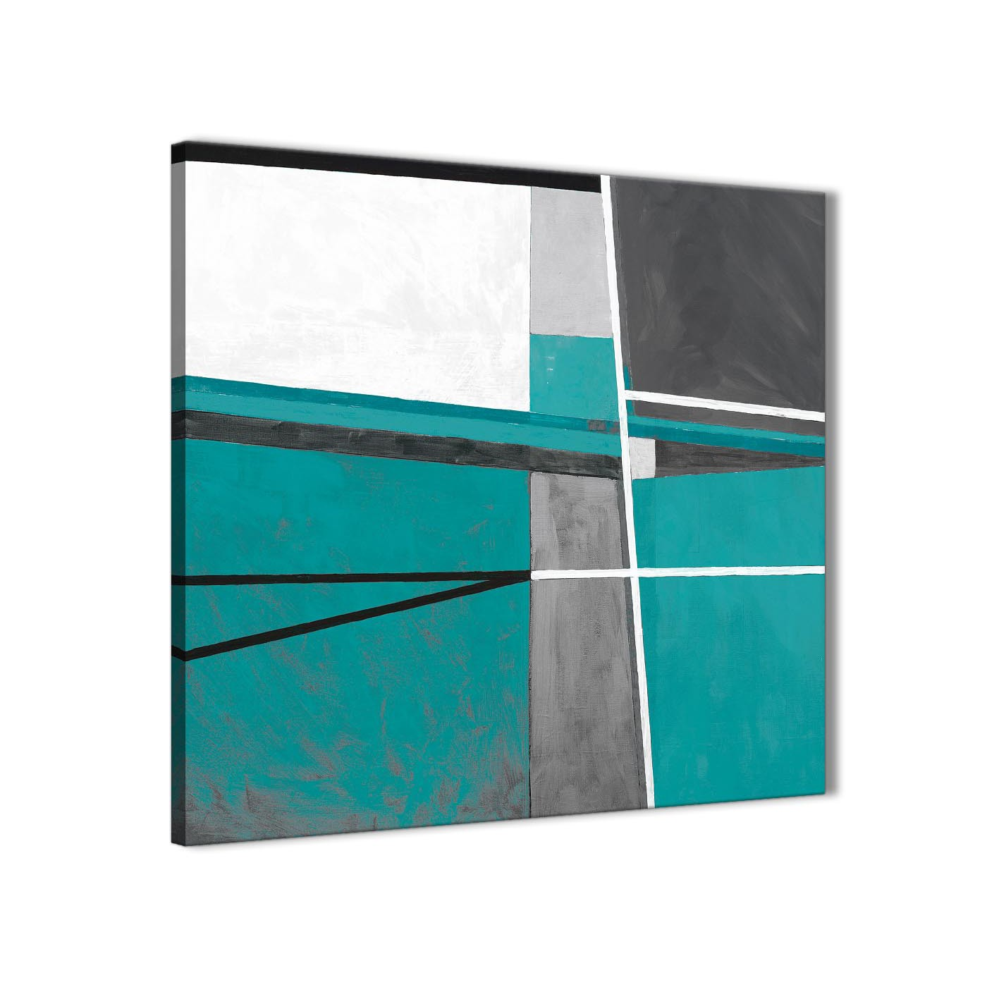 Teal Grey Painting Living Room Canvas Wall Art Decorations ...