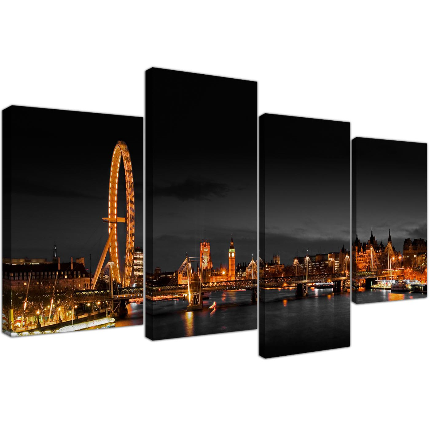 Large Canvas Art Office Landscape London Scene 130cm X 67cm 4186 Display  Gallery Item 1 ...