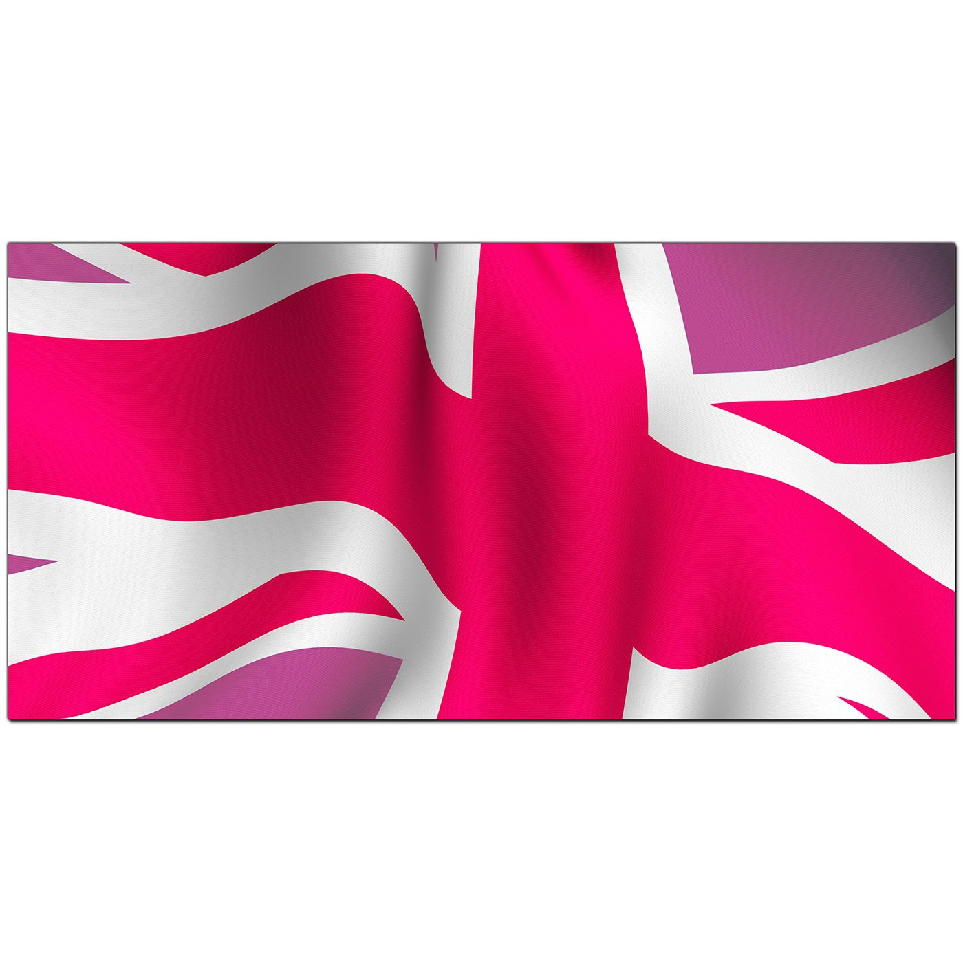 Large Pink Canvas Wall Art Of The Union Jack 1012