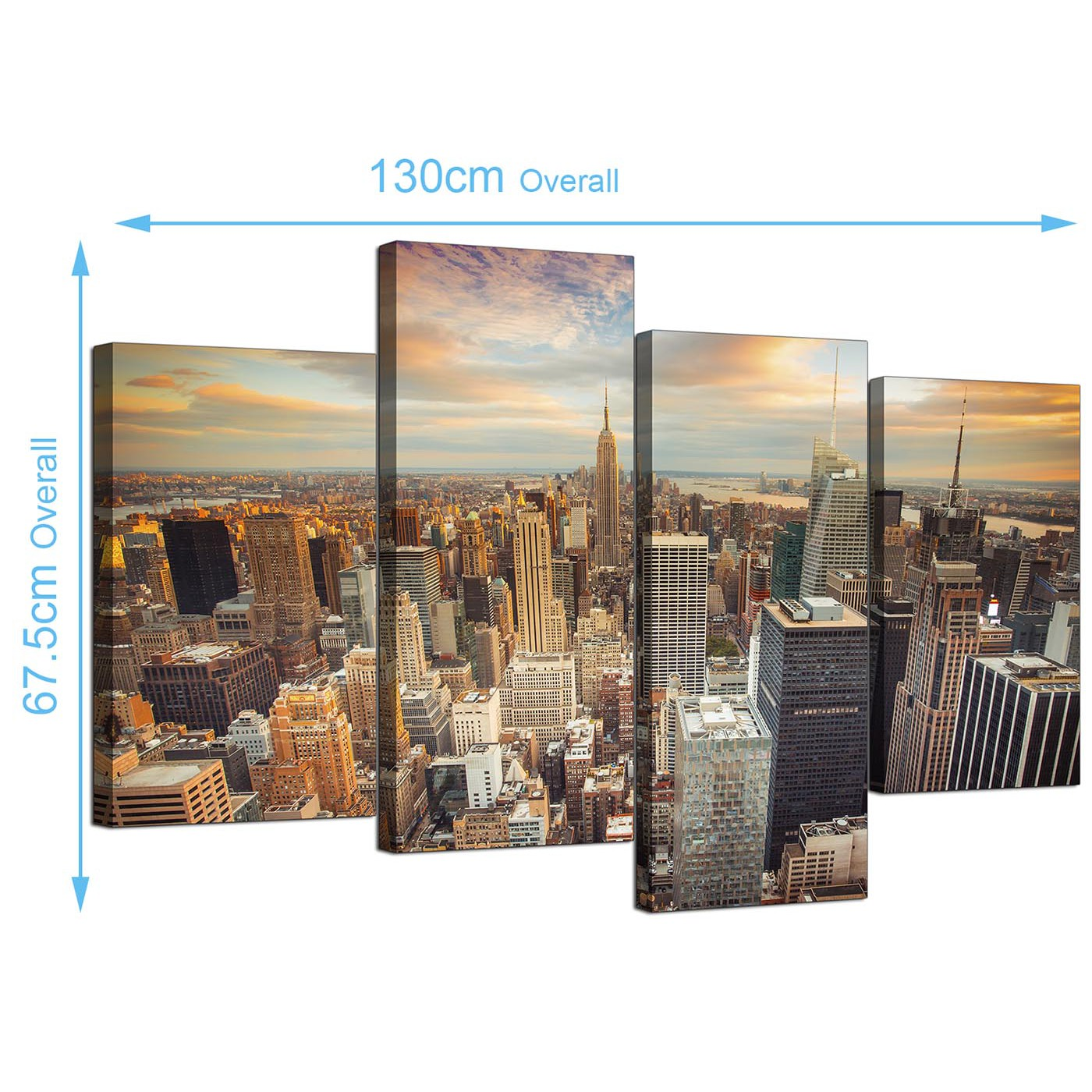 New York City Modern Canvas Painting Print Picture Home: Canvas Prints Of The New York Skyline For Your Living Room