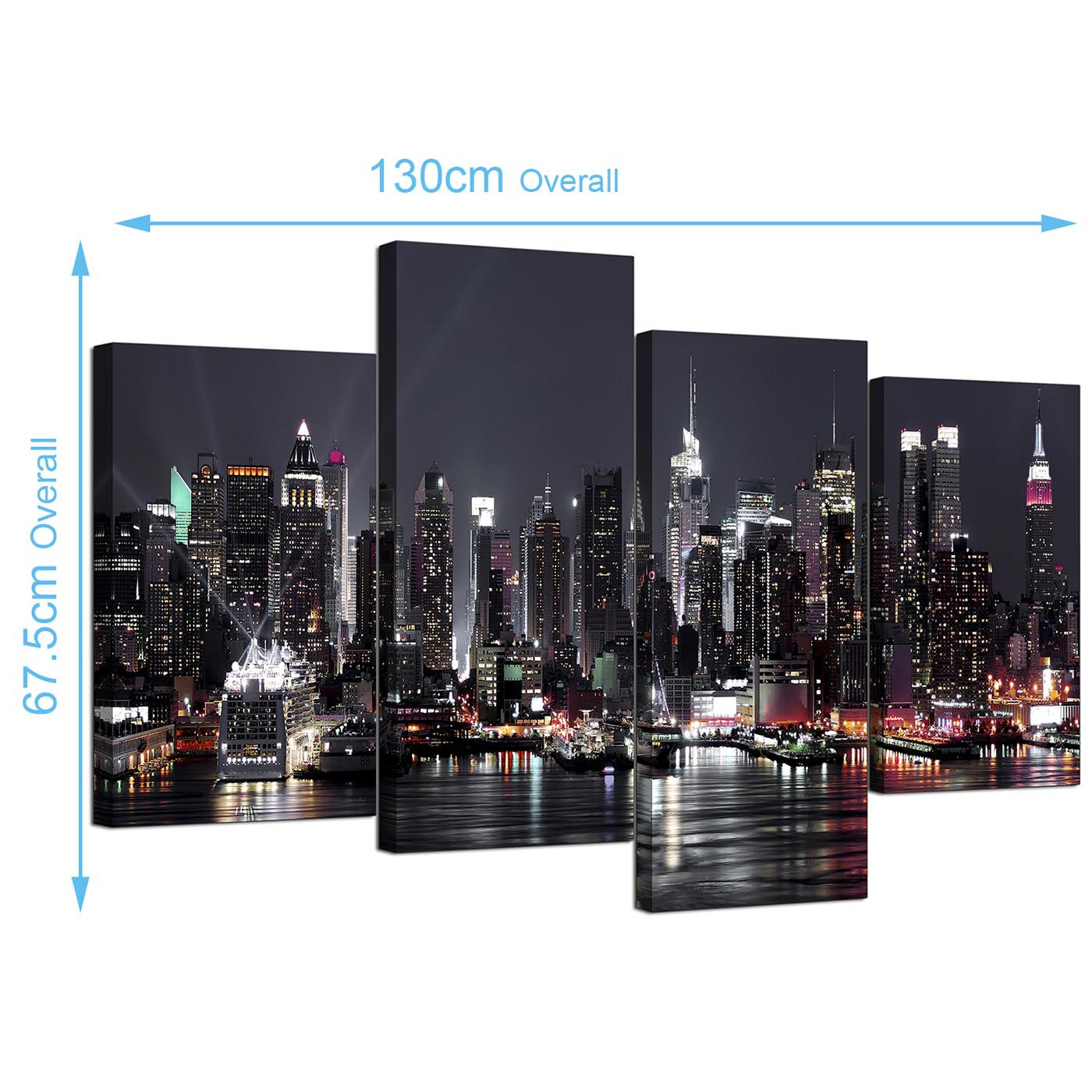 New York City Skyline Canvas Wall Art Large Art New York: Canvas Pictures Of New York Skyline For Your Living Room