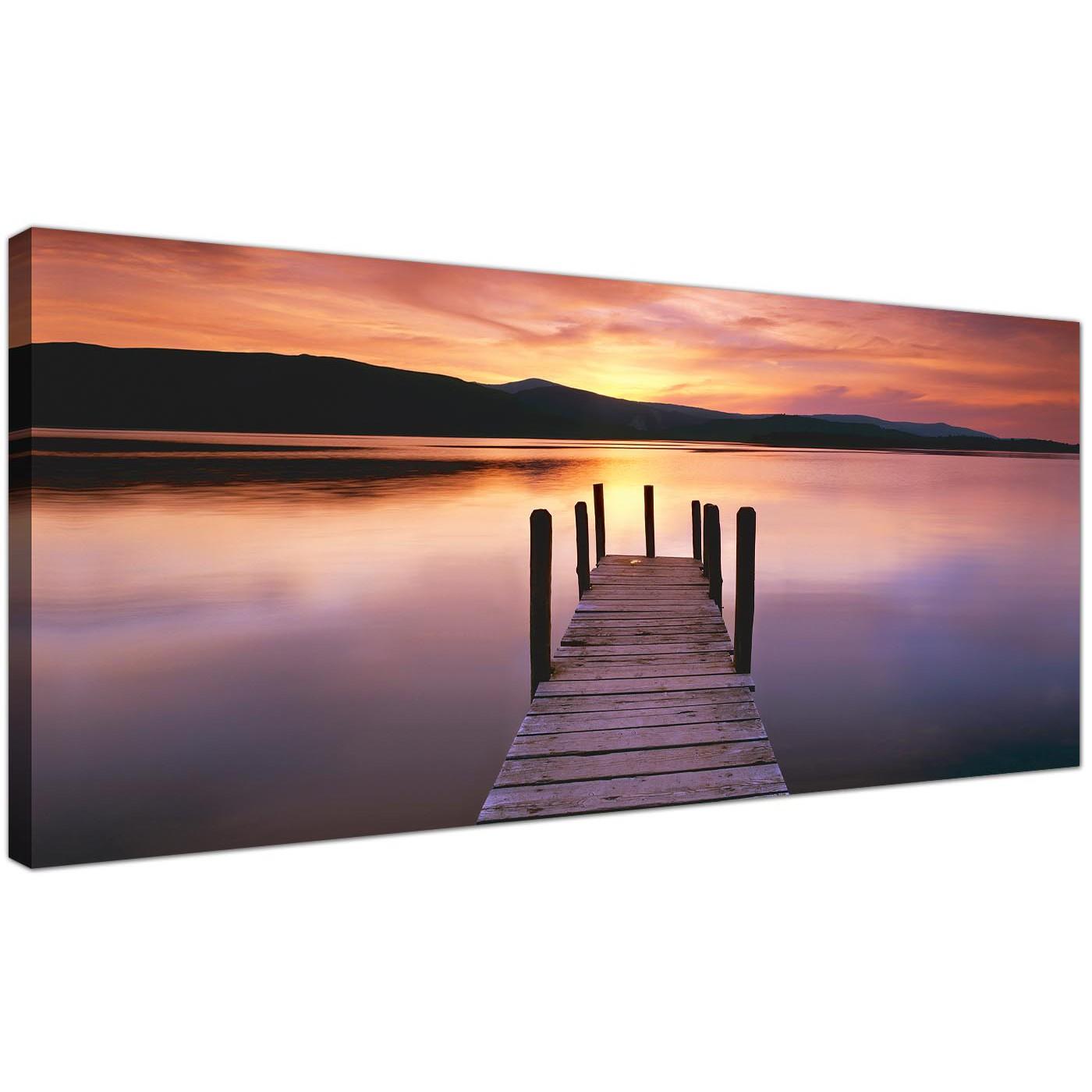 Cheap Canvas Prints Orange Panoramic Landscape 1214 Display Gallery Item 1  ...