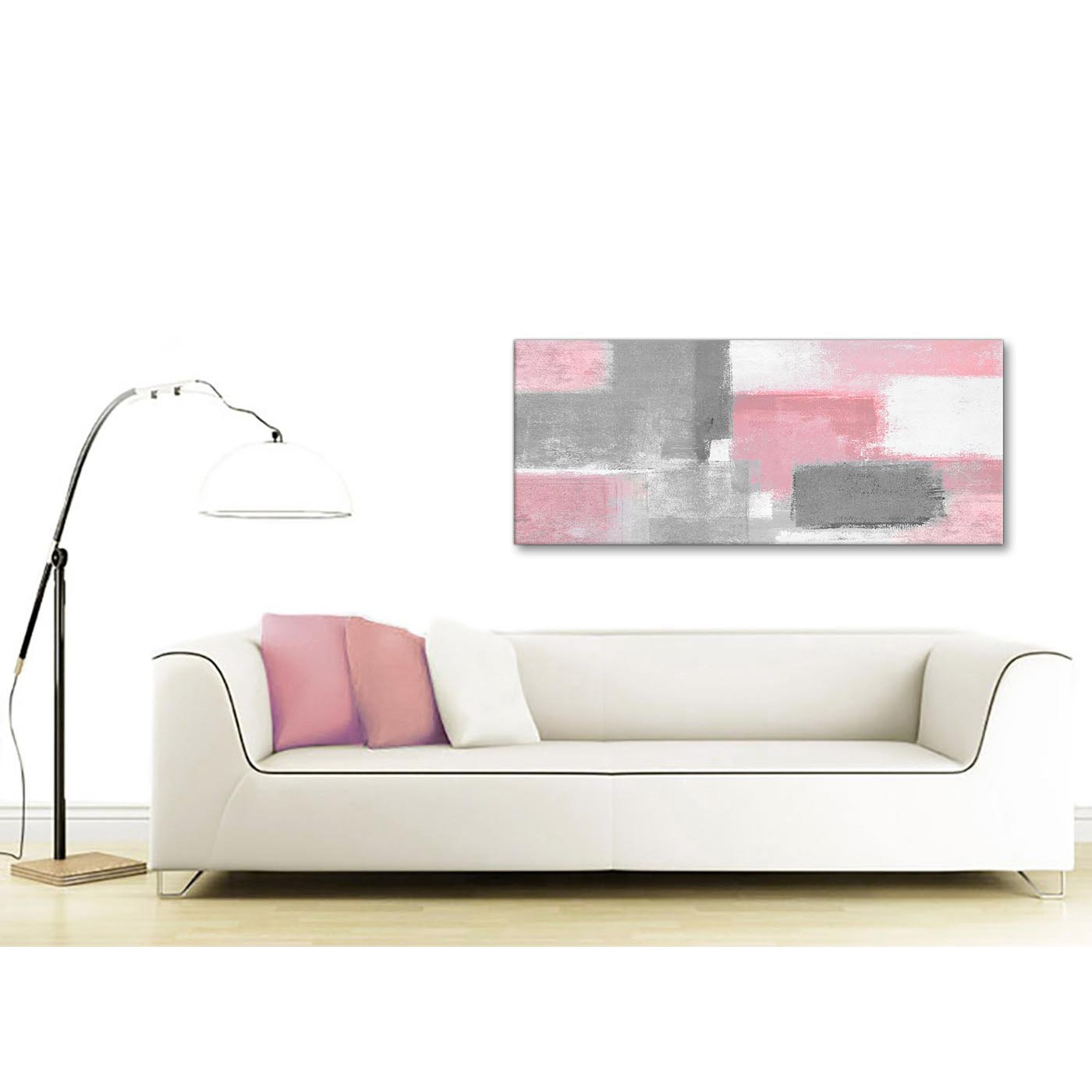 Blush Pink Grey Painting Bedroom Canvas Wall Art Accessories ...