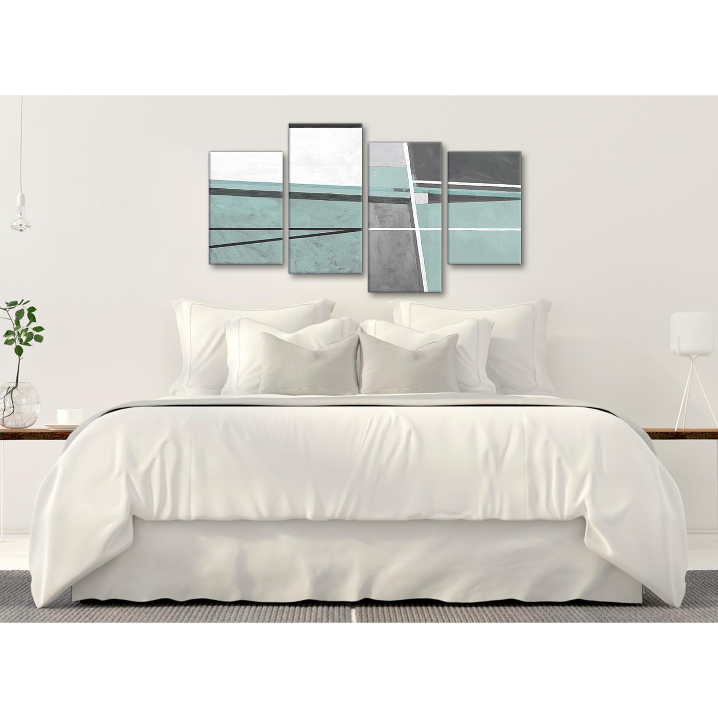 Interior Of Bedroom Wall Duck Egg Blue Bedroom Pictures Bedroom With Single Bed Bedroom Curtains Uk: Large Duck Egg Blue Grey Painting Abstract Bedroom Canvas
