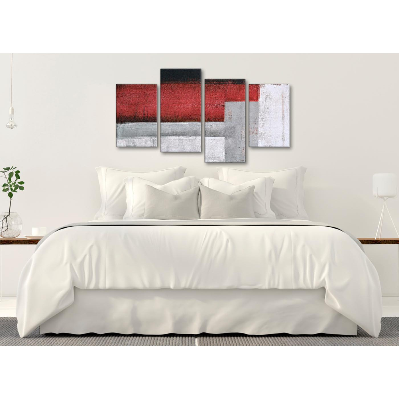 Display gallery item 1 modern large red grey painting abstract bedroom canvas pictures decor 4428 130cm set of display gallery item 2