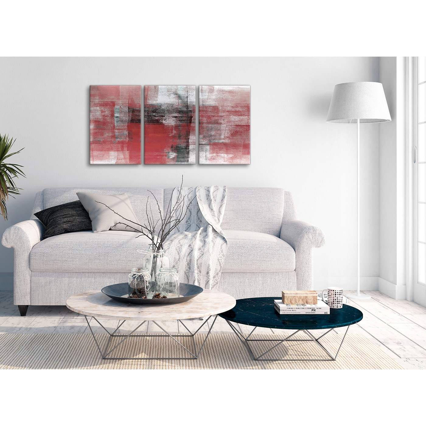 Display Gallery Item 3; Multiple 3 Panel Red Black White Painting Living  Room Canvas Pictures Accessories   Abstract 3397   Display Gallery Item 4  ...