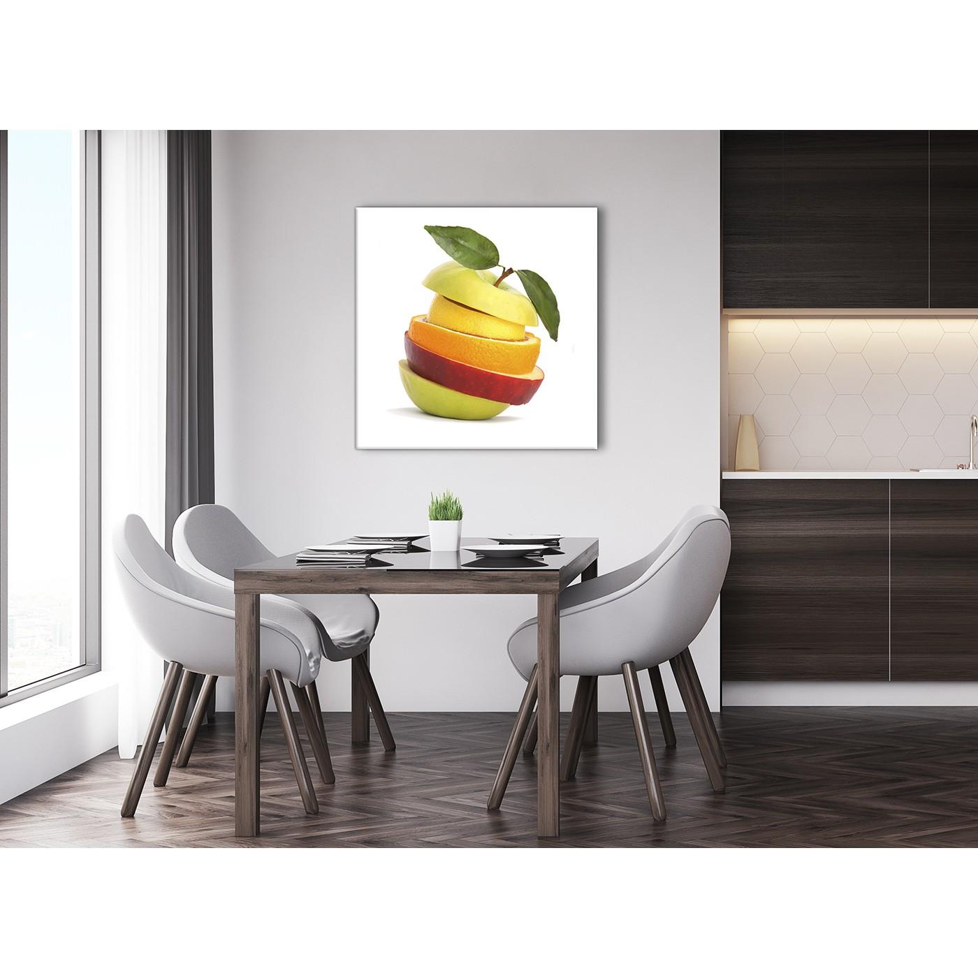 Large Kitchen Canvas Art Print Sliced Fruit