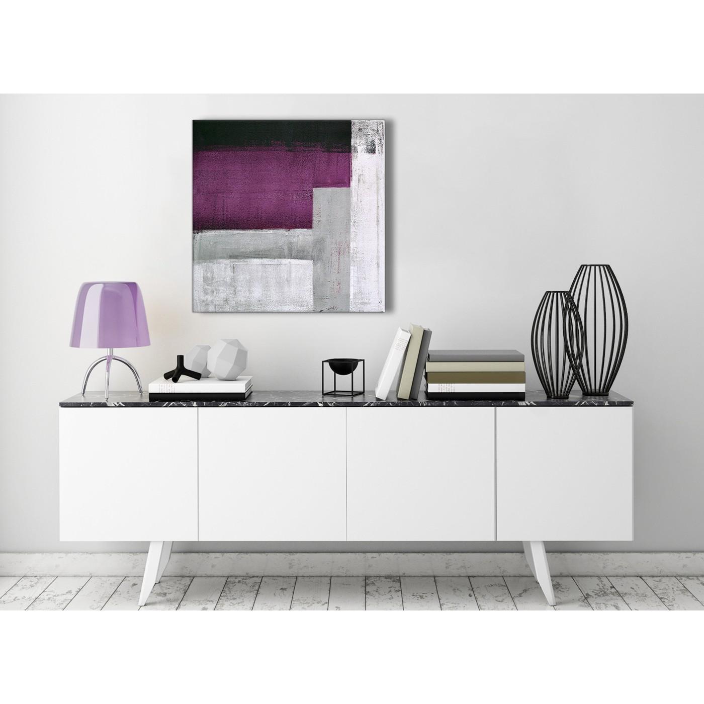 Plum Purple Grey Painting Kitchen Canvas Pictures: Purple Grey Painting Kitchen Canvas Pictures Decor