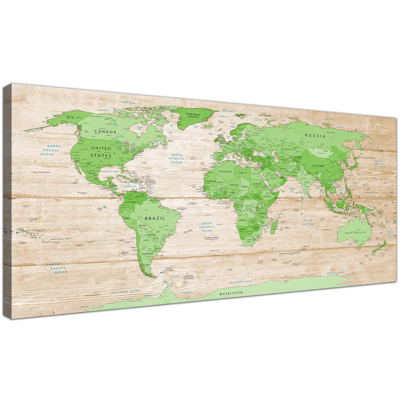 Large lime green cream world map atlas canvas wall art prints oversized large lime green cream world map atlas canvas modern 120cm wide 1310 for your dining display gallery item 1 gumiabroncs Images