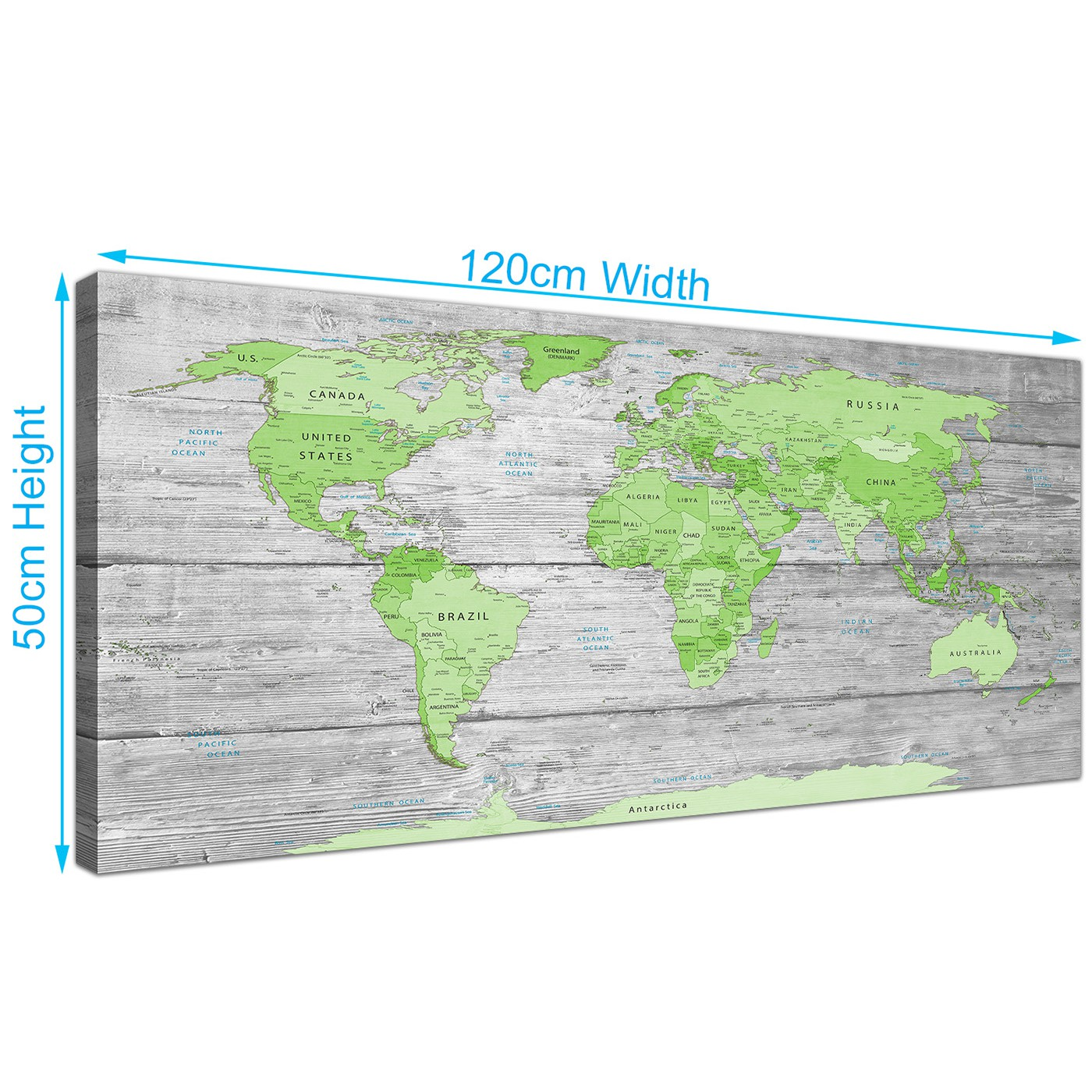 Large lime green grey world map atlas canvas wall art print 120cm display gallery item 2 panoramic green grey large lime green grey world map atlas canvas wall art print maps canvas display gallery item 3 gumiabroncs Images