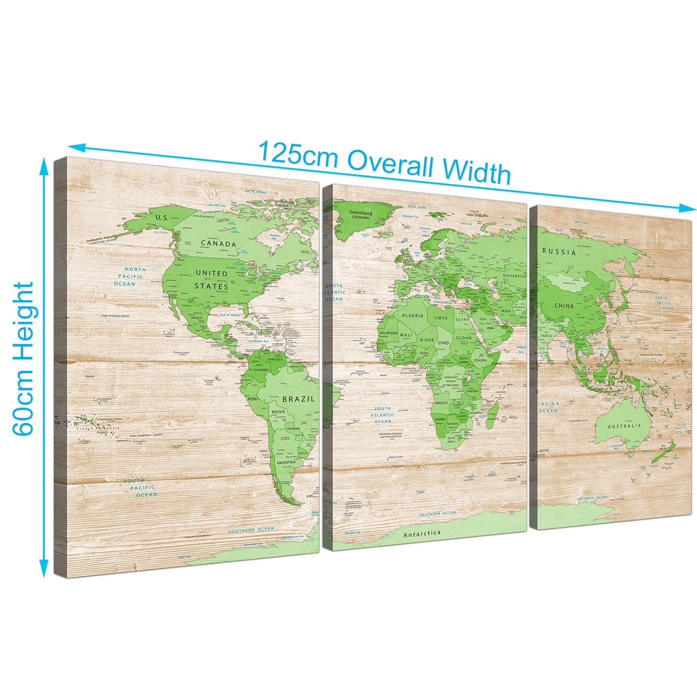 Large lime green cream world map atlas canvas wall art prints display gallery item 3 gumiabroncs Images