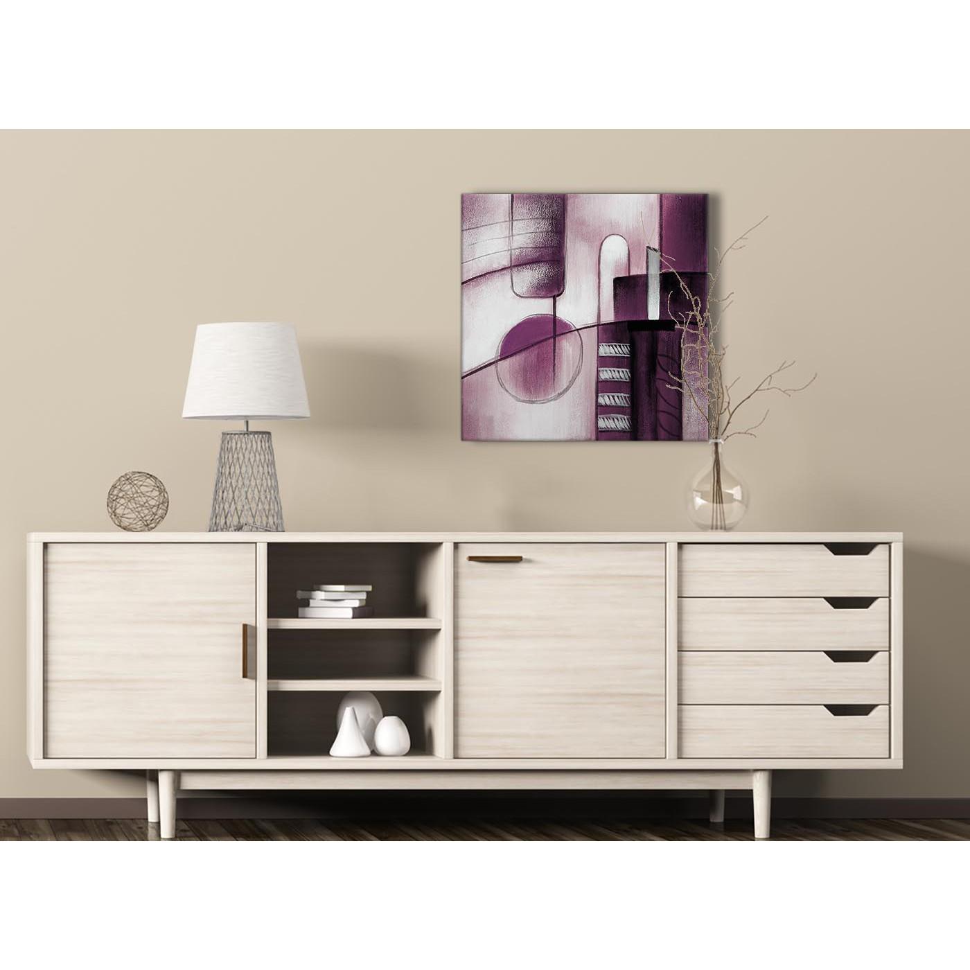 Plum Purple Grey Painting Kitchen Canvas Pictures: Plum Grey Painting Hallway Canvas Wall Art Decor