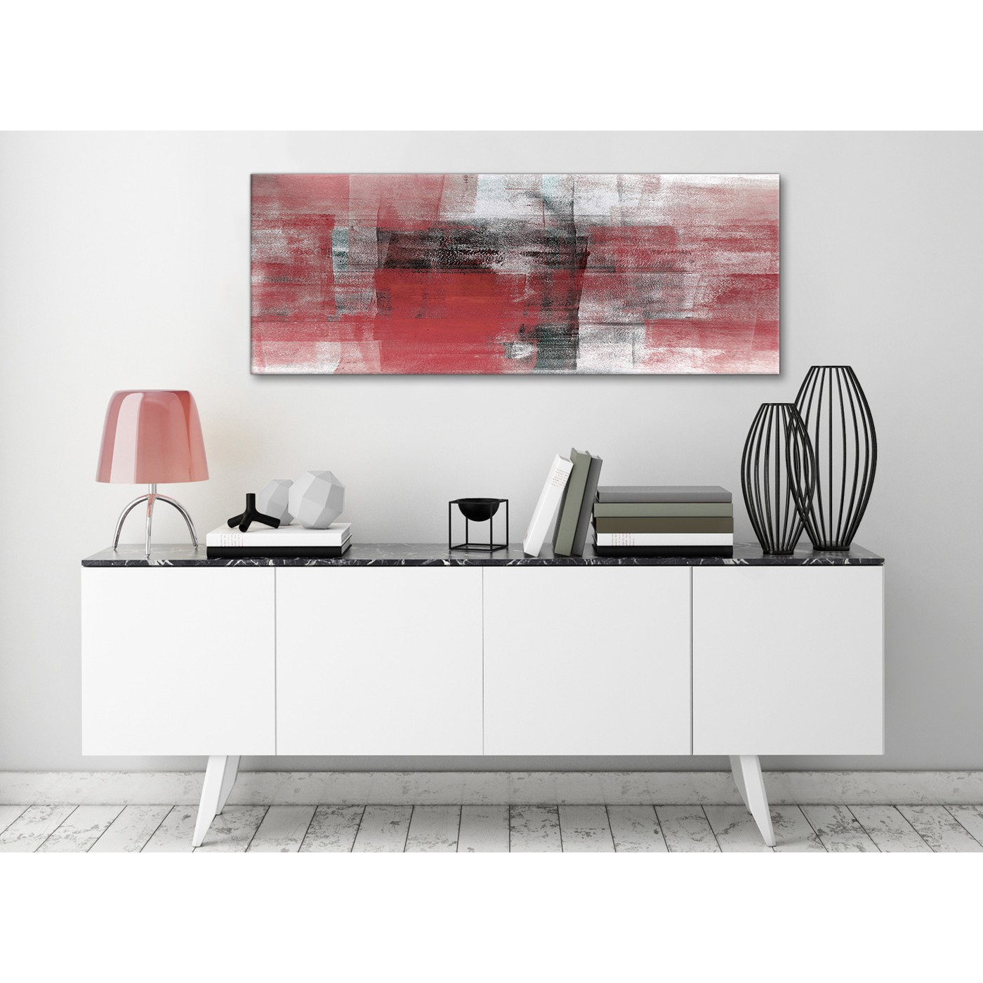 Red Black White Painting Living Room Canvas Wall Art Accessories   Abstract  1397   120cm Print