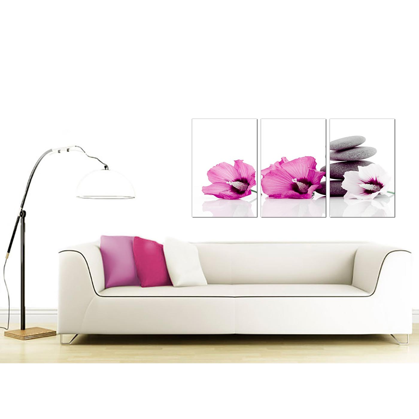 Bedroom Canvas Wall Art Uk: Flowers Canvas Prints UK Set Of 3 For Your Girls Bedroom