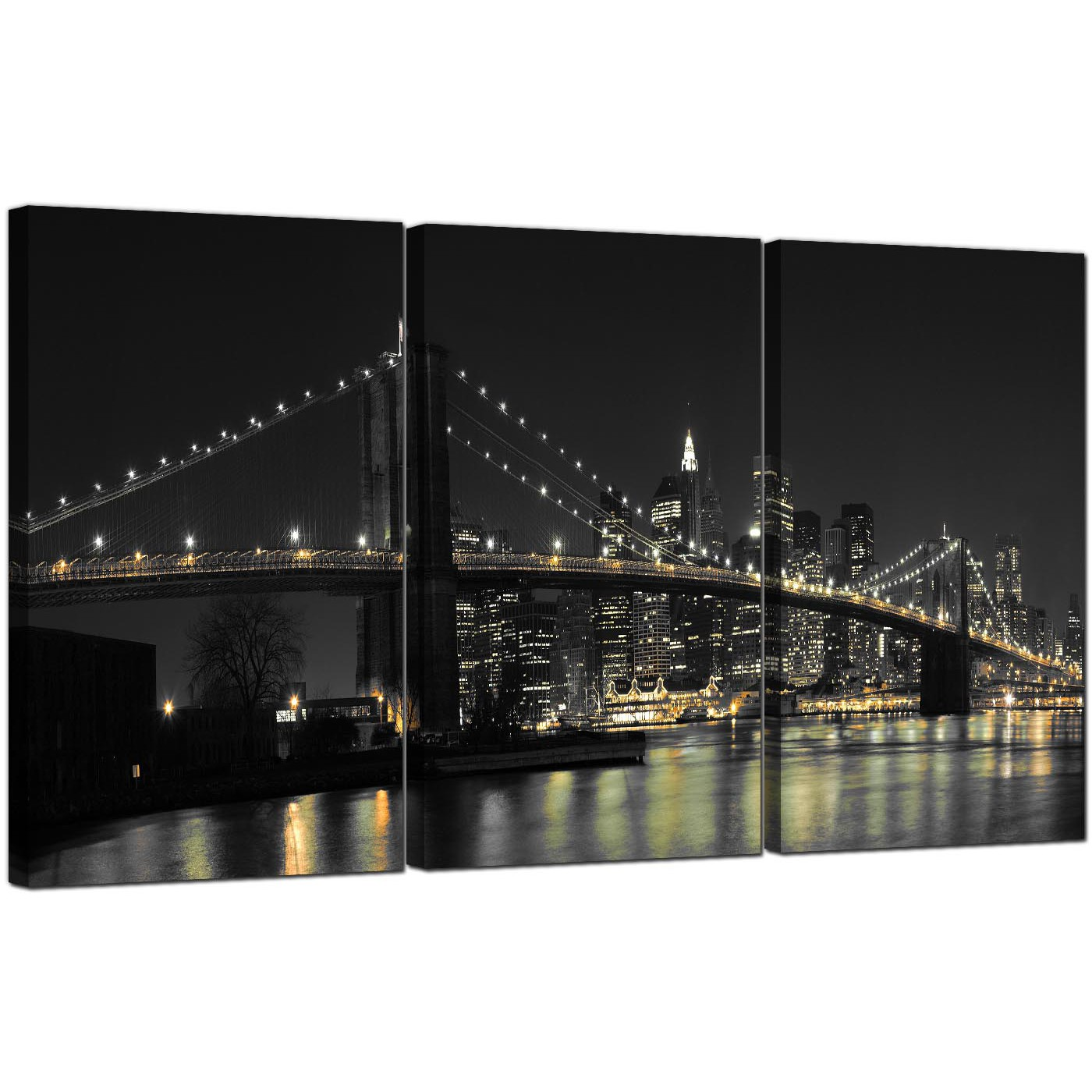 extra large new york canvas prints 3 panel for your living room. Black Bedroom Furniture Sets. Home Design Ideas
