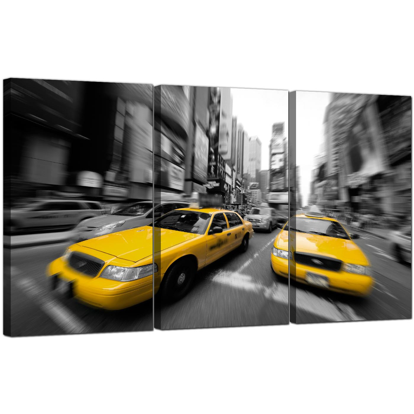 Display Gallery Item 5; Triptych City Canvas Prints New York United States  3028 Display Gallery Item 6