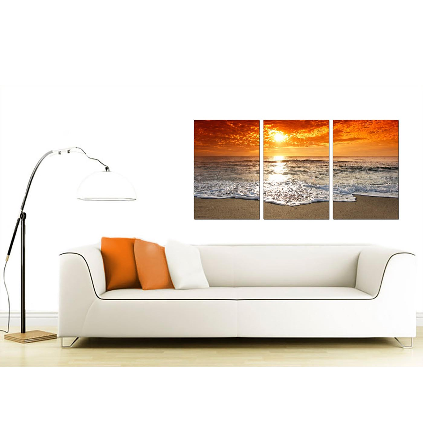Cheap Beach Sunset Canvas Prints Uk Set Of 3 For Your