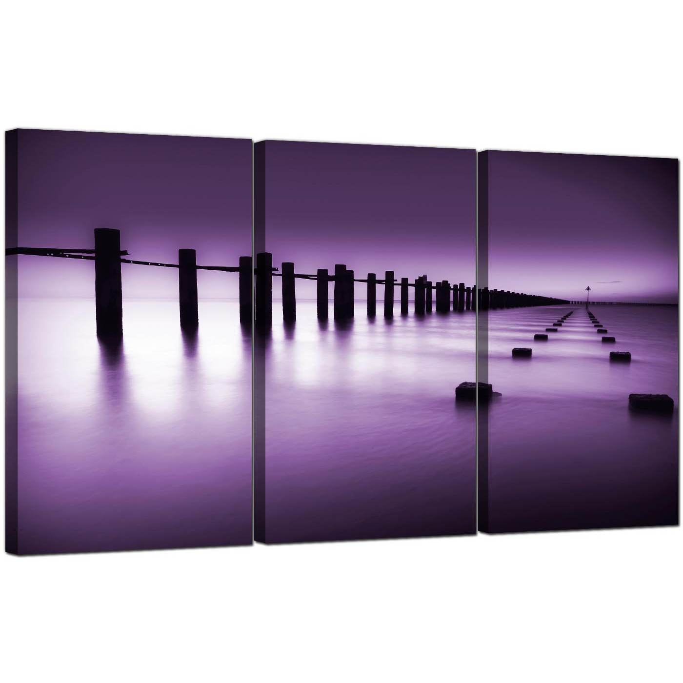 sea canvas art set of 3 for your dining room