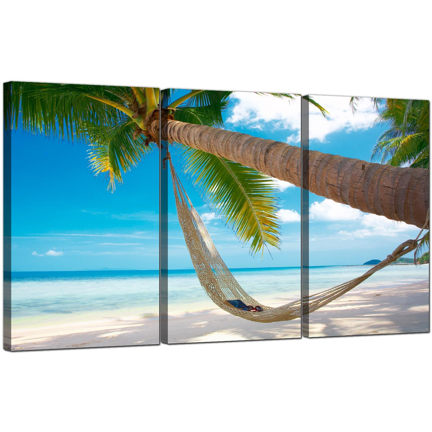 cheap tropical beach canvas prints uk 3 panel for your bathroom
